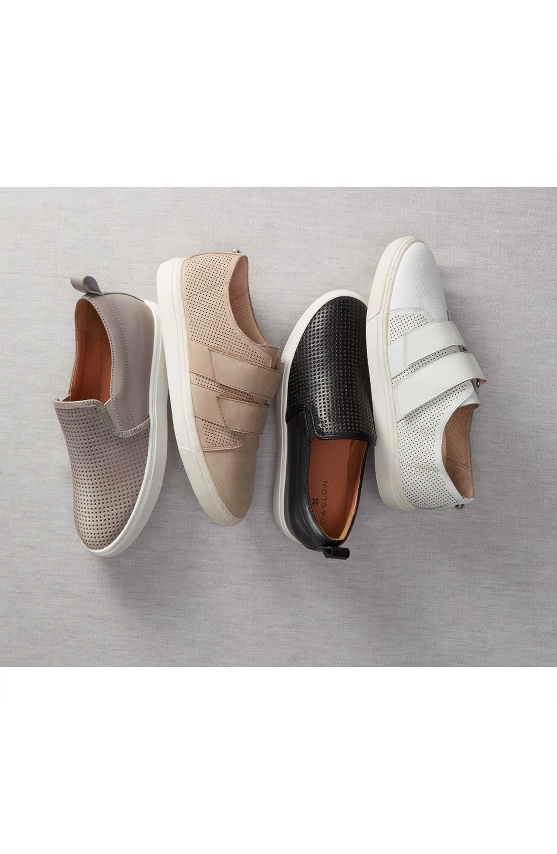 Eden Perforated Slip-On Sneaker,                             Alternate thumbnail 6, color,                             001