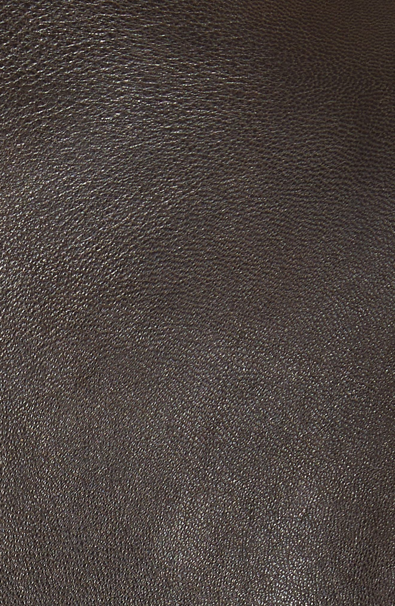 Leather Jacket,                             Alternate thumbnail 6, color,