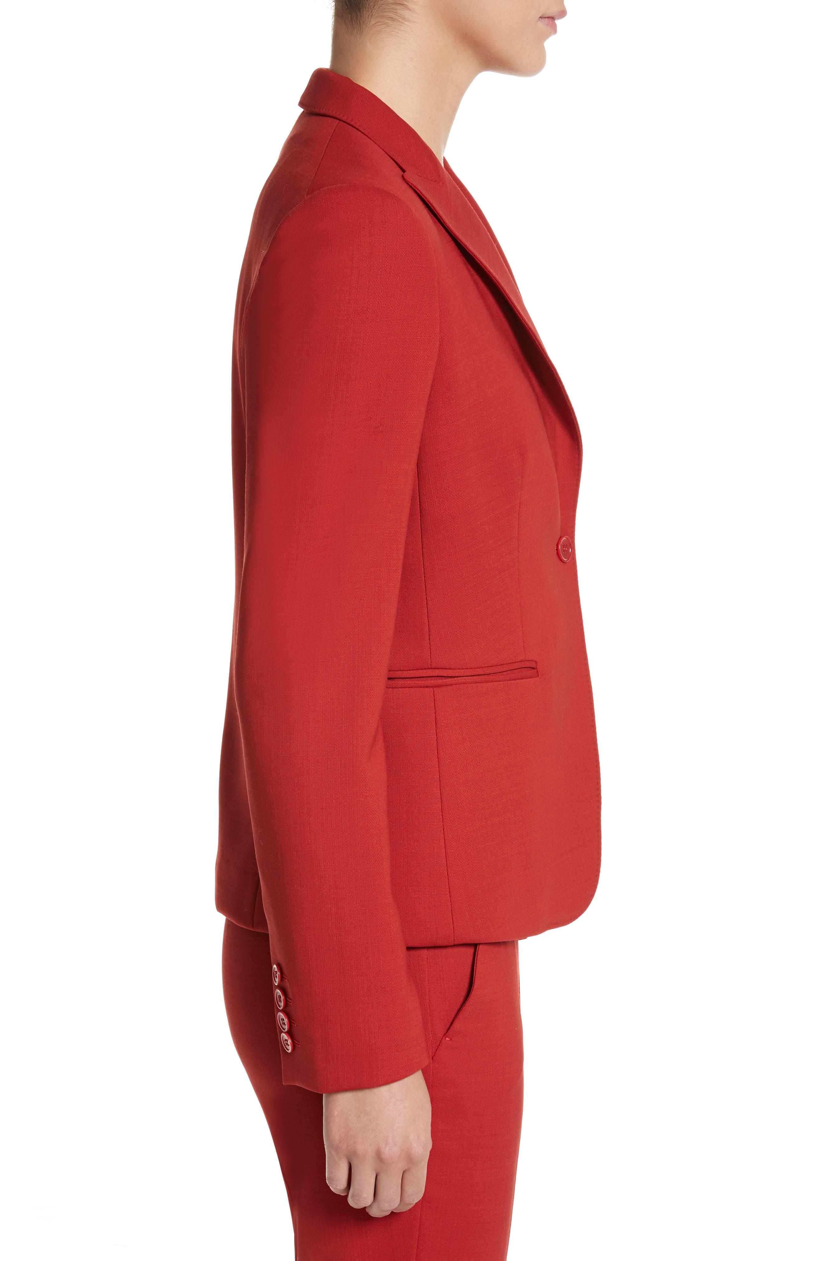 Umile Stretch Wool Jacket,                             Alternate thumbnail 3, color,                             614