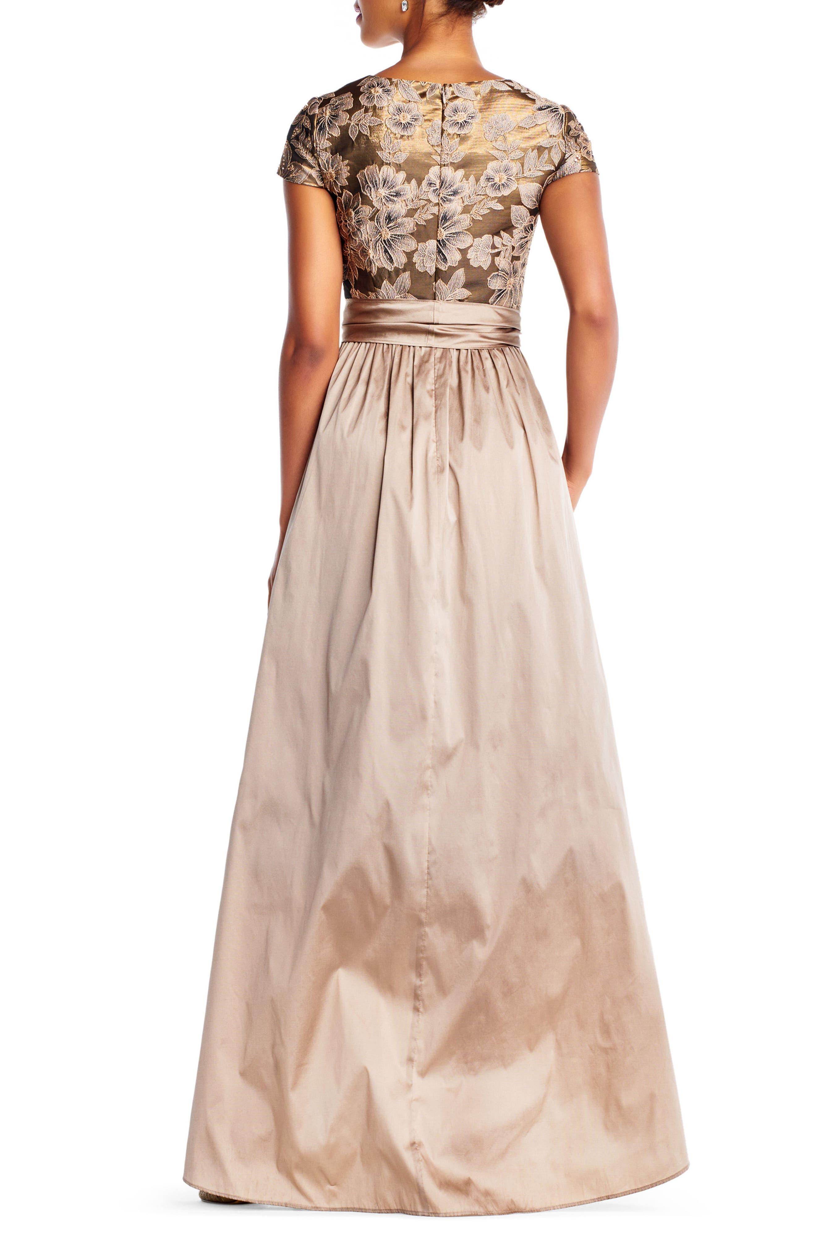 Taffeta High/Low Gown,                             Alternate thumbnail 2, color,                             920