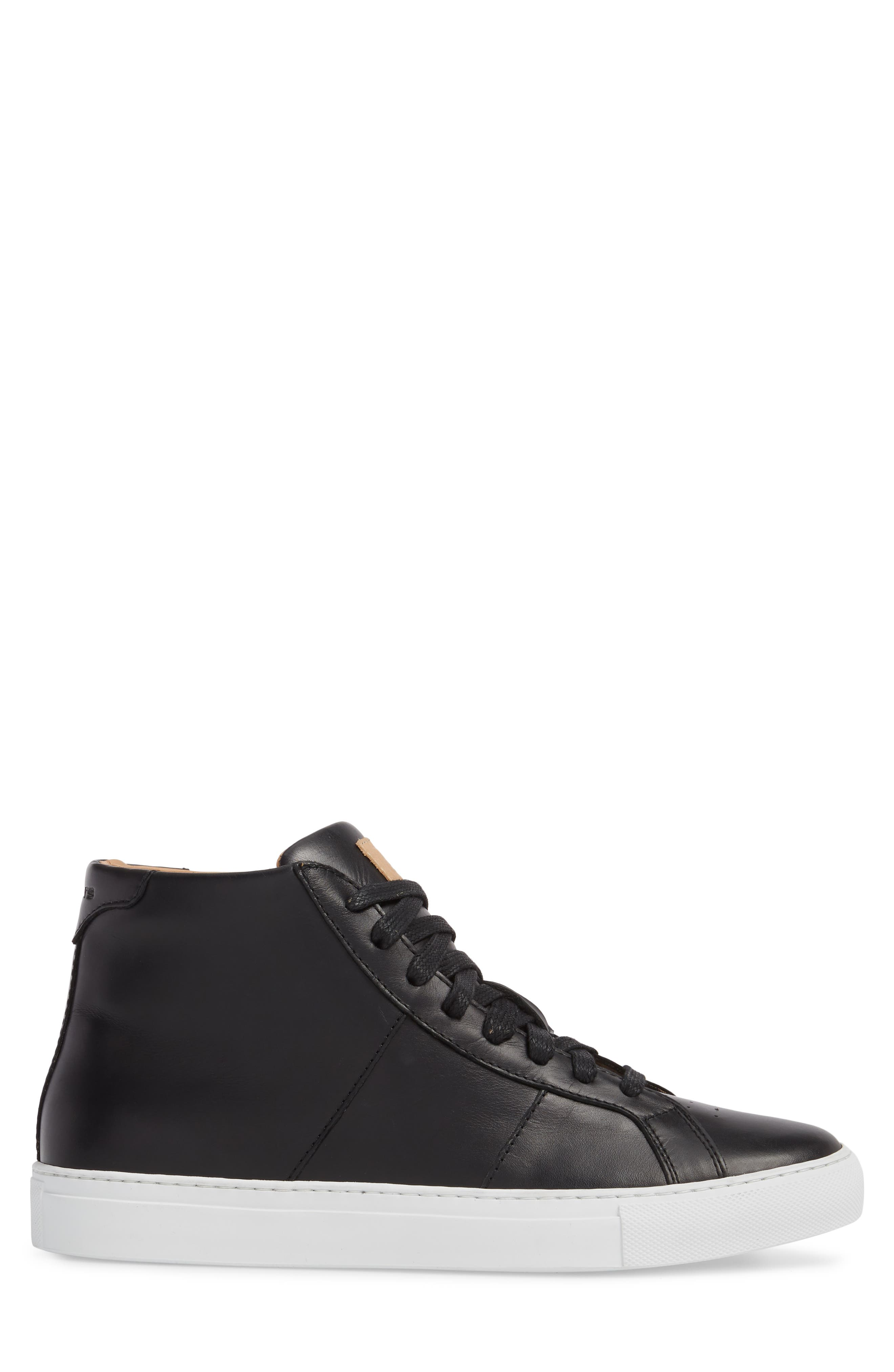 Royale High Top Sneaker,                             Alternate thumbnail 3, color,                             001