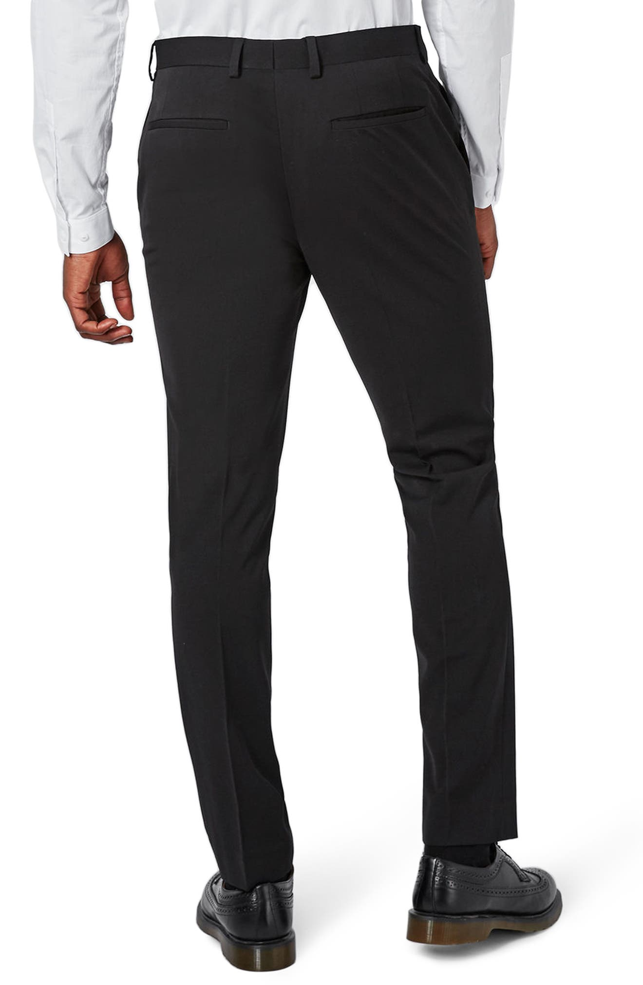 Muscle Fit Suit Trousers,                             Alternate thumbnail 2, color,                             BLACK