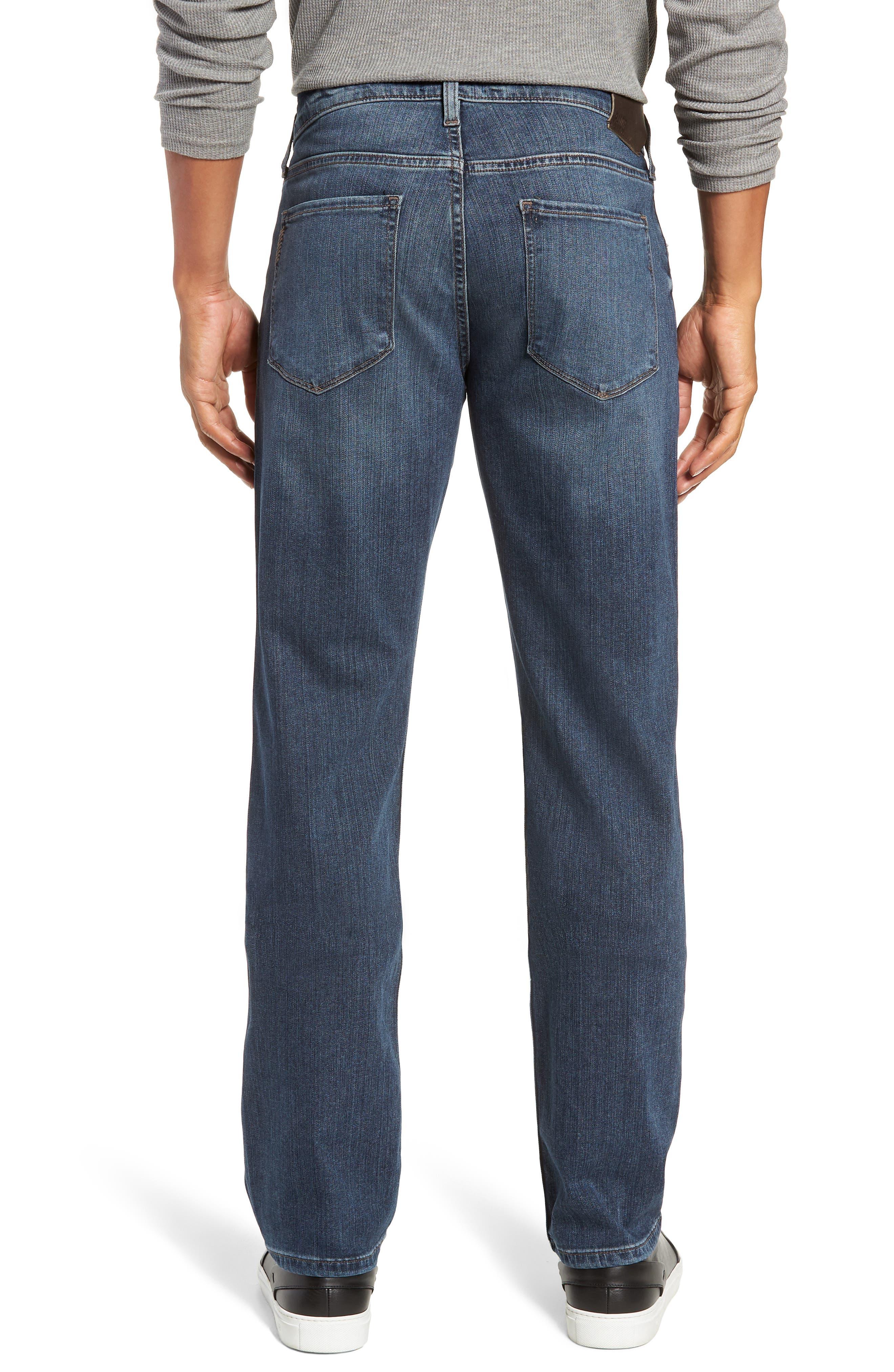Transcend - Normandie Straight Leg Jeans,                             Alternate thumbnail 2, color,                             DILLON