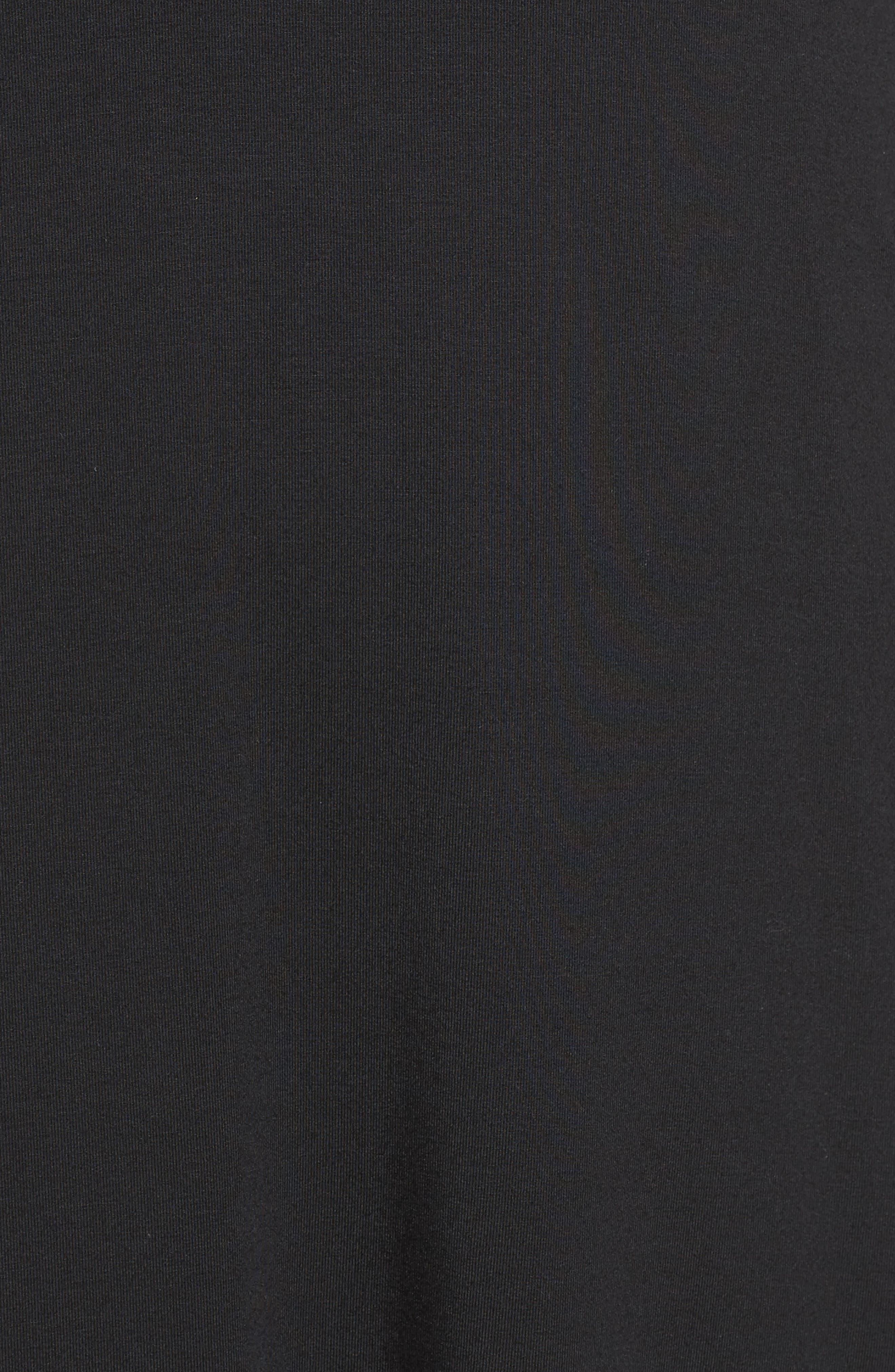 Sally Turtleneck A-Line Dress,                             Alternate thumbnail 6, color,                             001