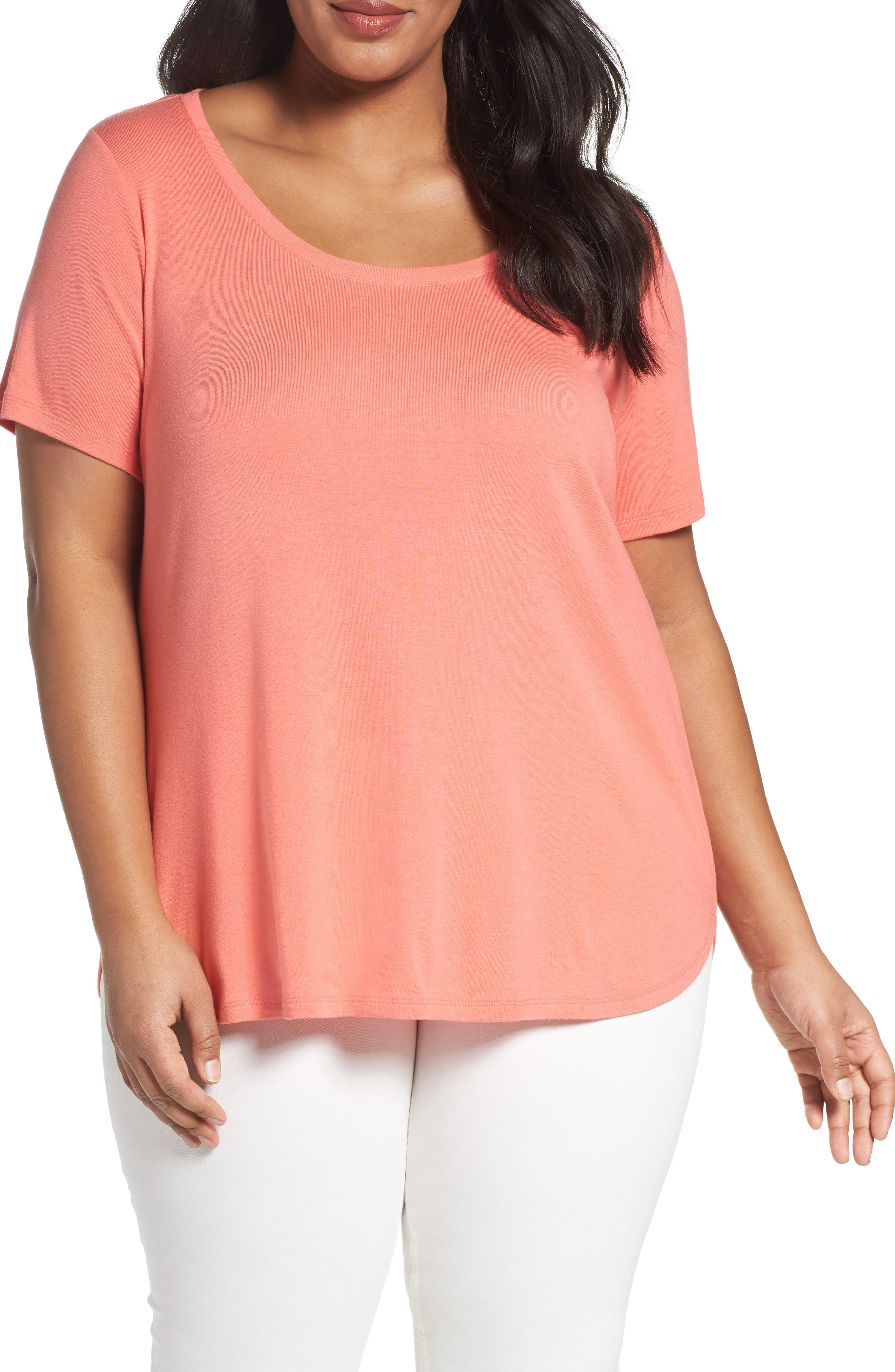 Scoop Neck Tee,                             Main thumbnail 14, color,