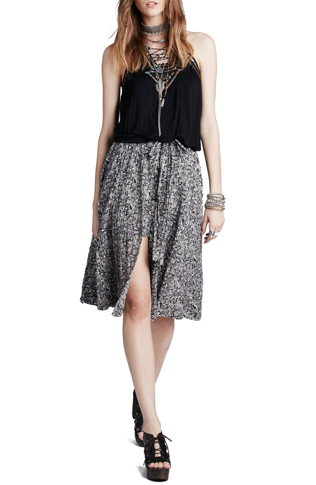 FREE PEOPLE 'Love Train' Wrap Skirt, Main, color, 001