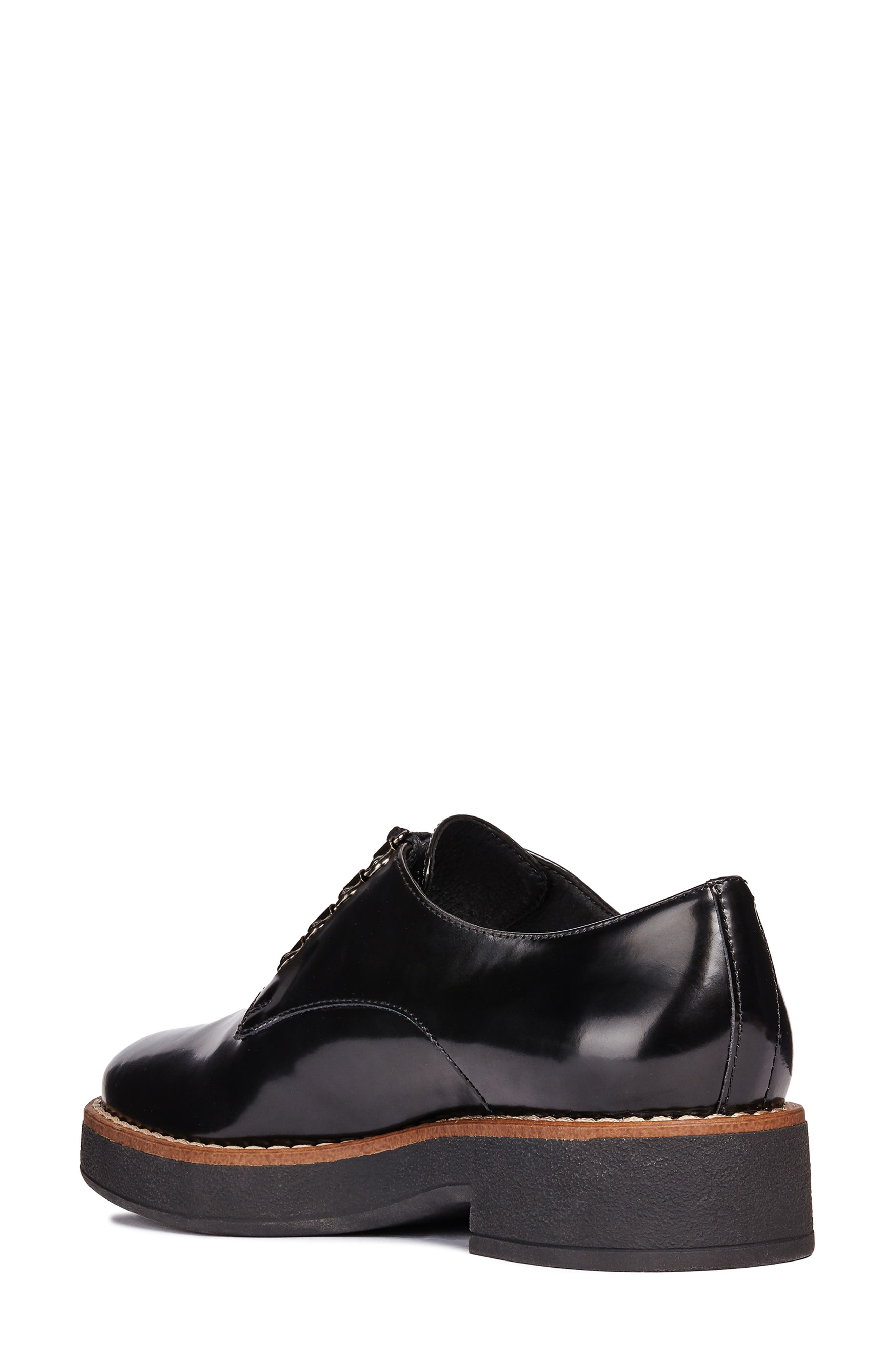 Adrya Oxford,                             Alternate thumbnail 2, color,                             BLACK/ BEIGE LEATHER