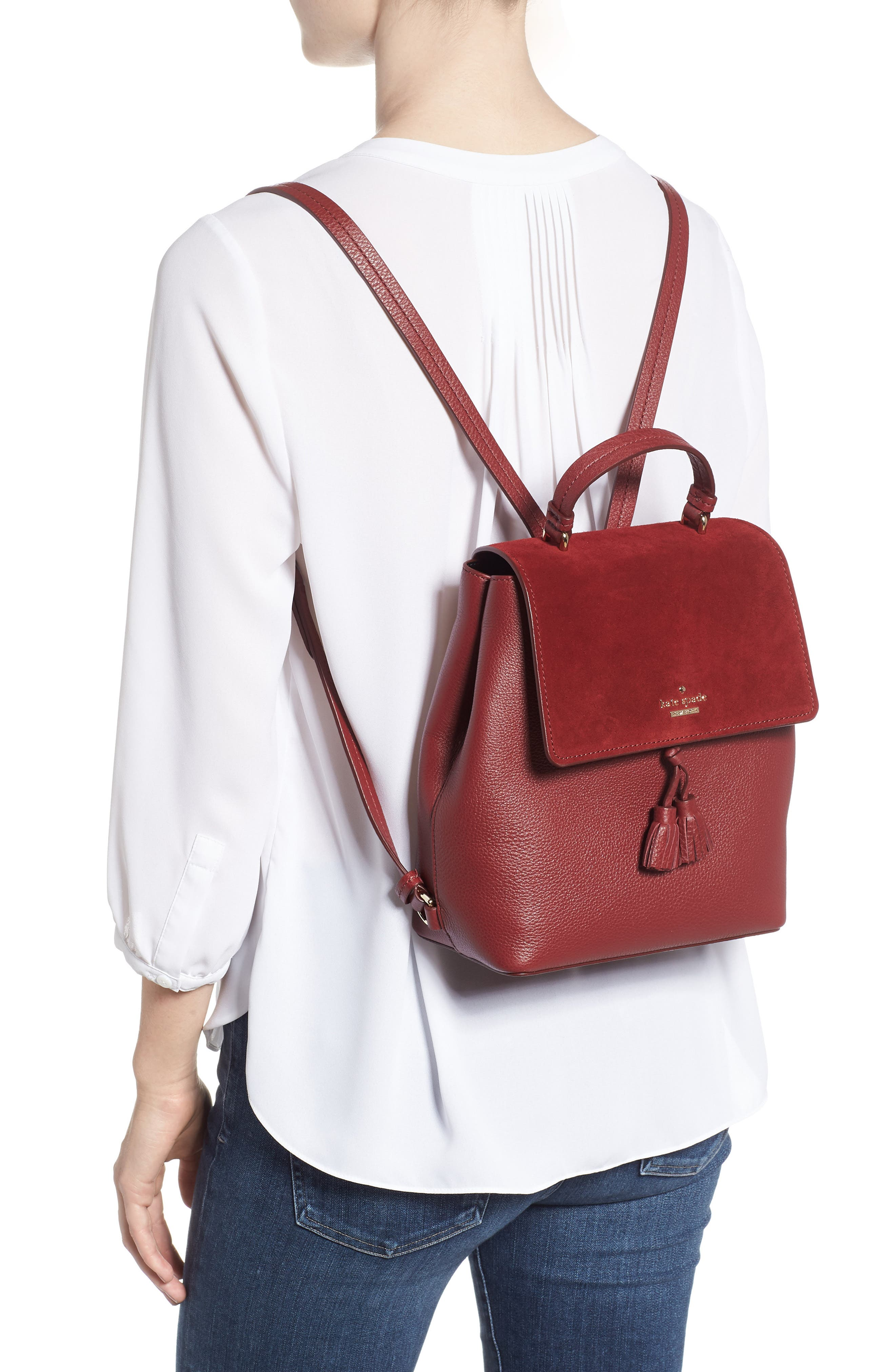 KATE SPADE NEW YORK,                             hayes street - teba leather & suede backpack,                             Alternate thumbnail 2, color,                             600