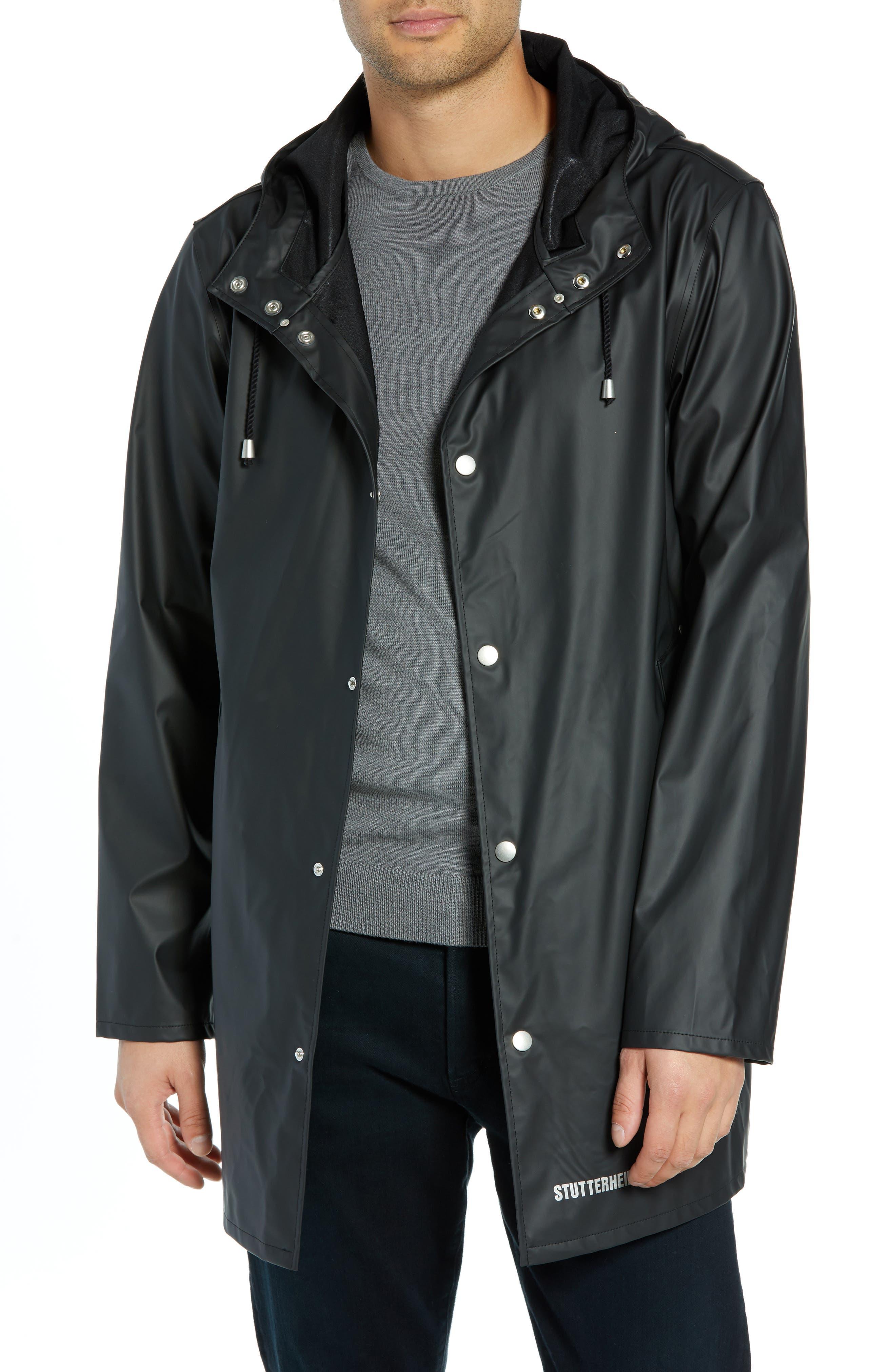 Stutterheim Stockholm Lightweight Waterproof Rain Jacket, Black