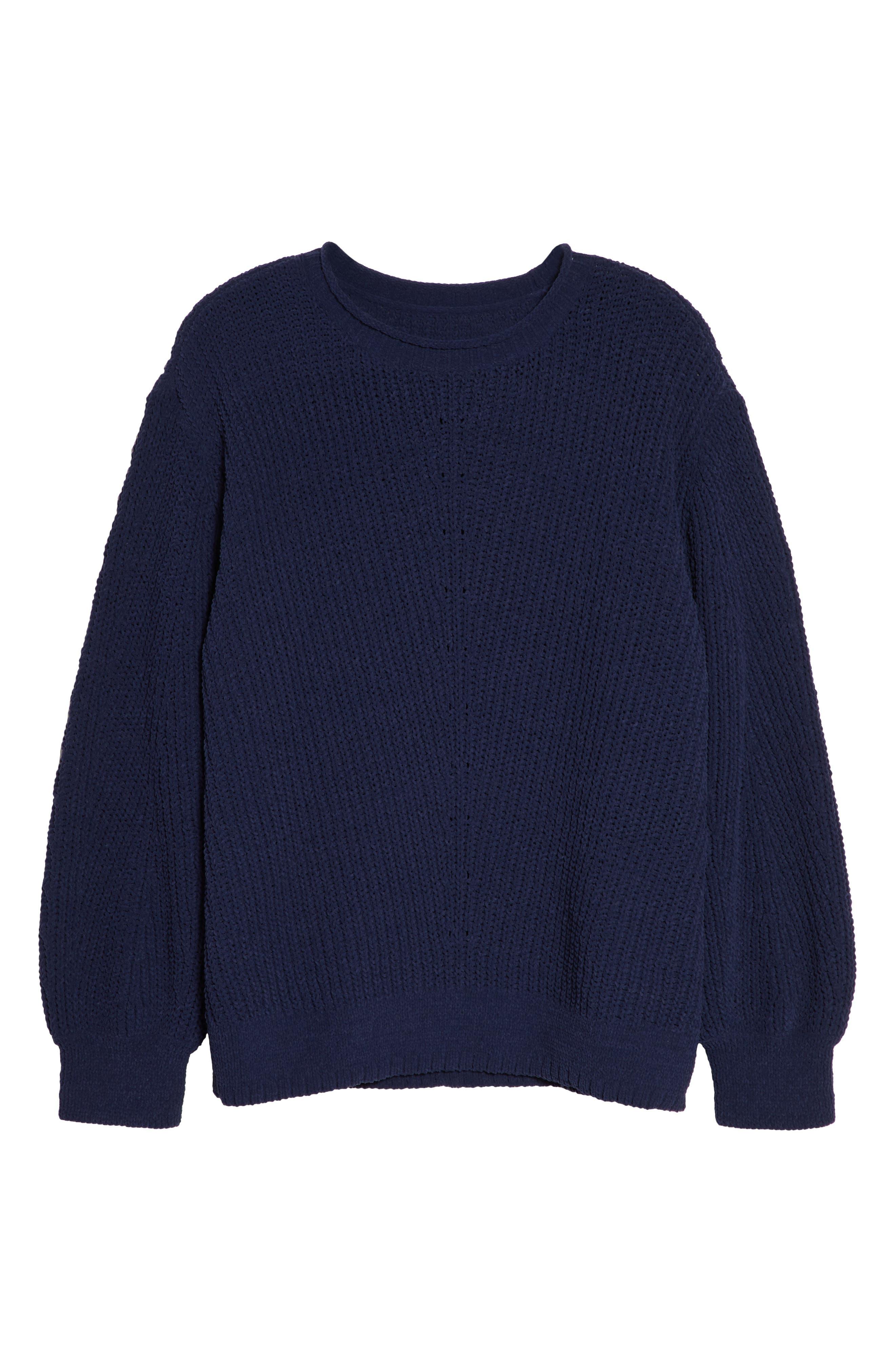 CASLON<SUP>®</SUP>,                             Chenille Crewneck Sweater,                             Alternate thumbnail 6, color,                             401