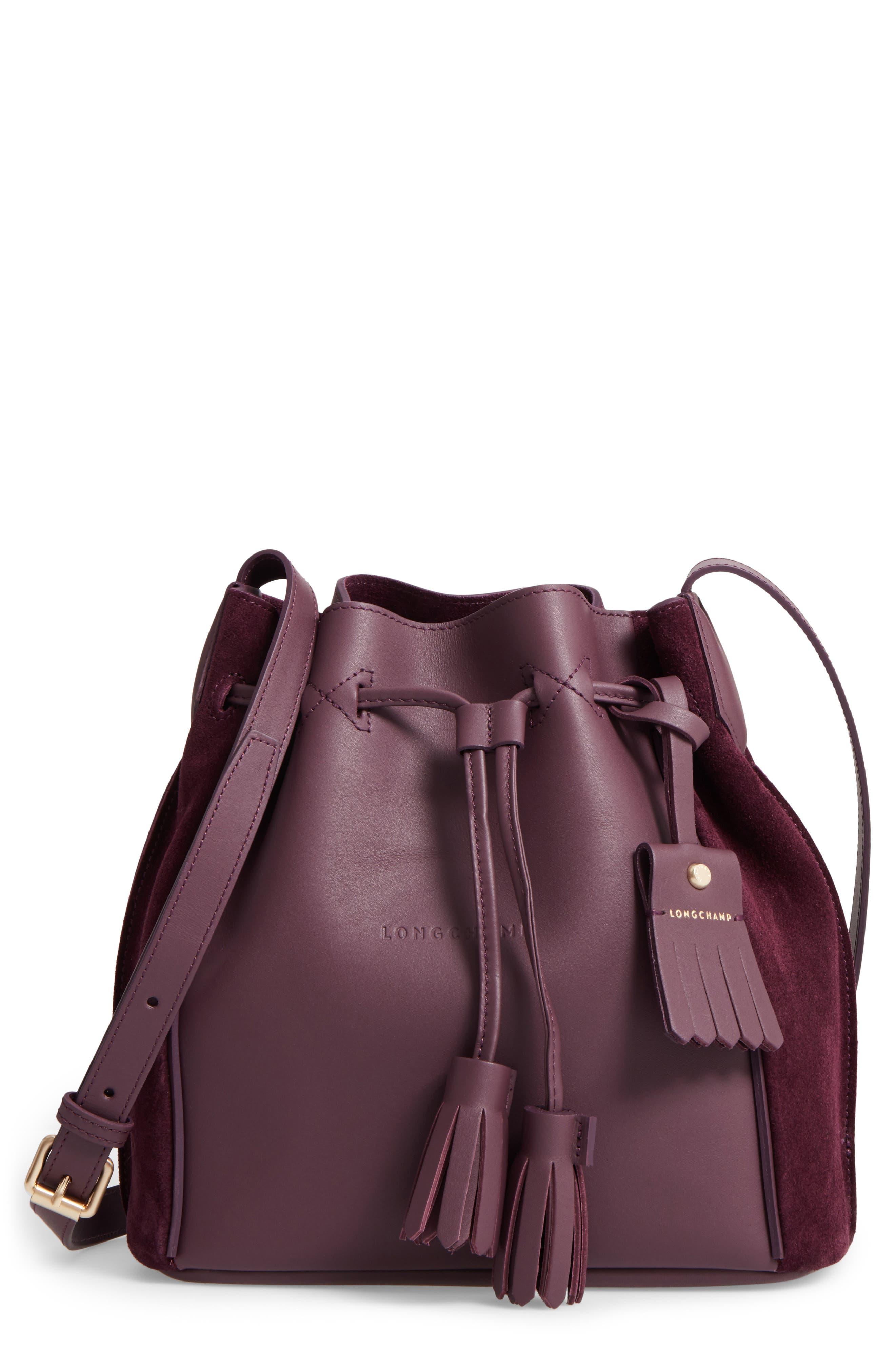 Penelope Fantasie Leather Bucket Bag,                             Main thumbnail 1, color,