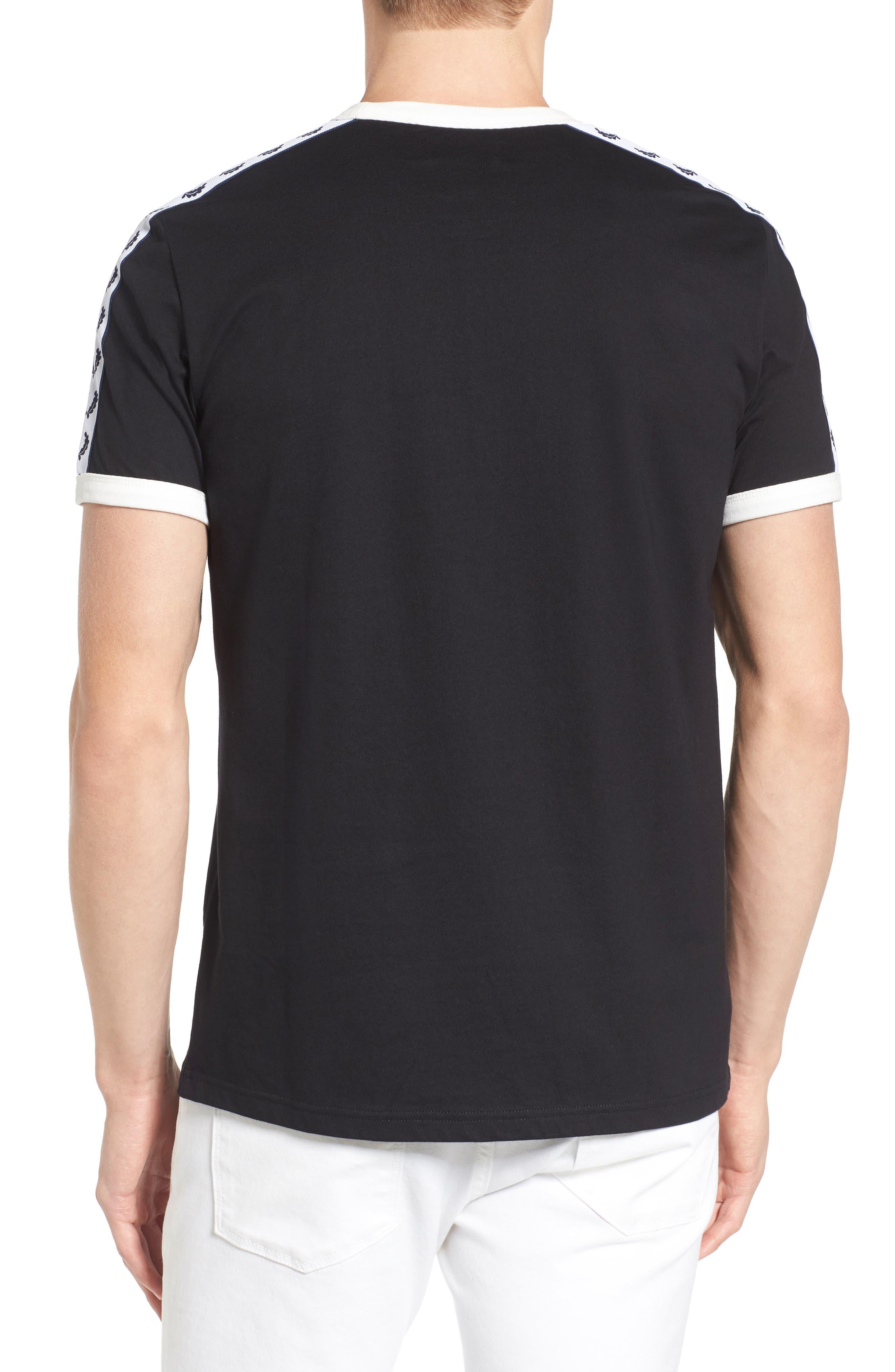 Extra Trim Fit Cotton Ringer T-Shirt,                             Alternate thumbnail 10, color,