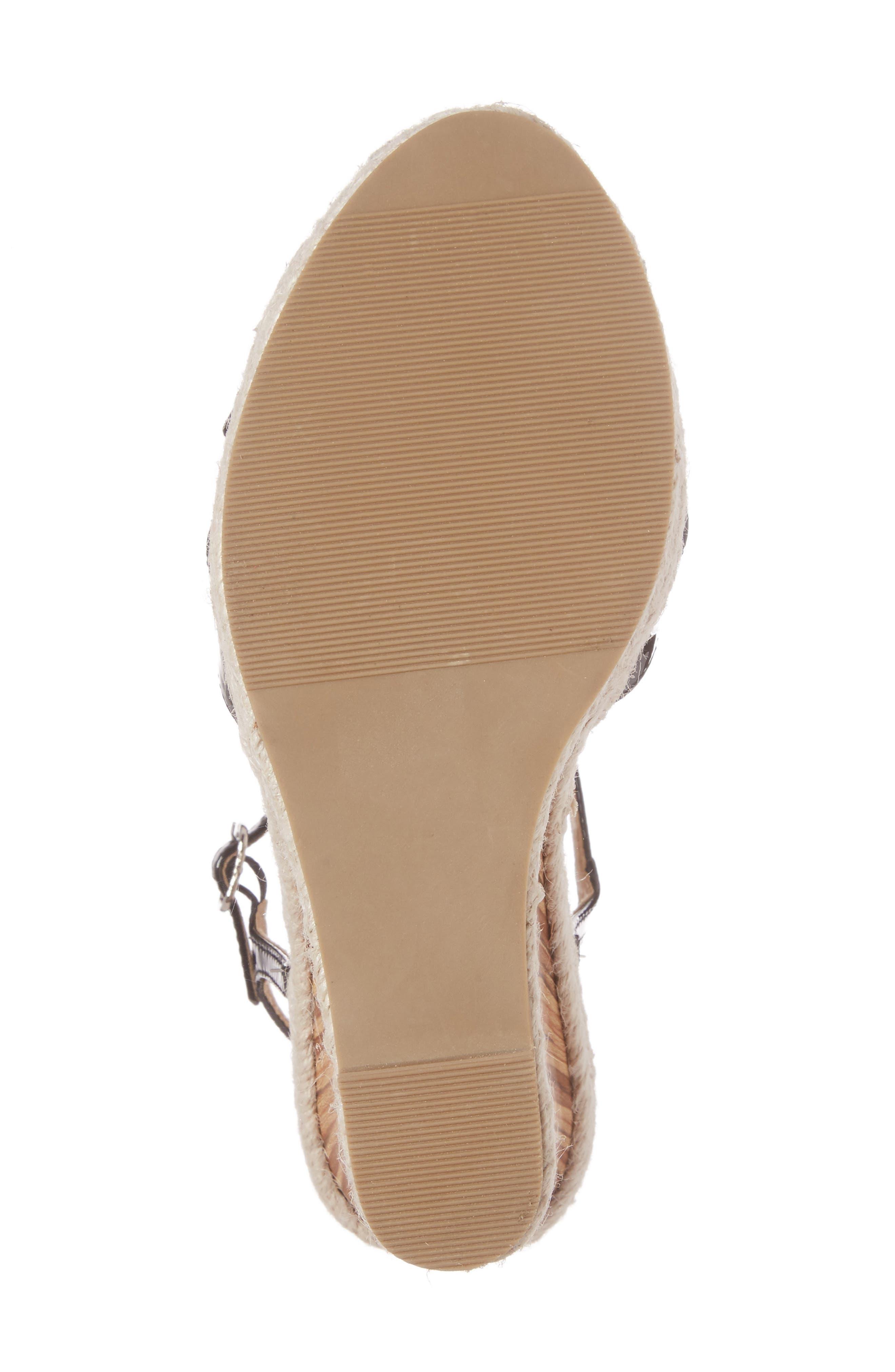 Alinna T-Strap Wedge Sandal,                             Alternate thumbnail 6, color,                             002