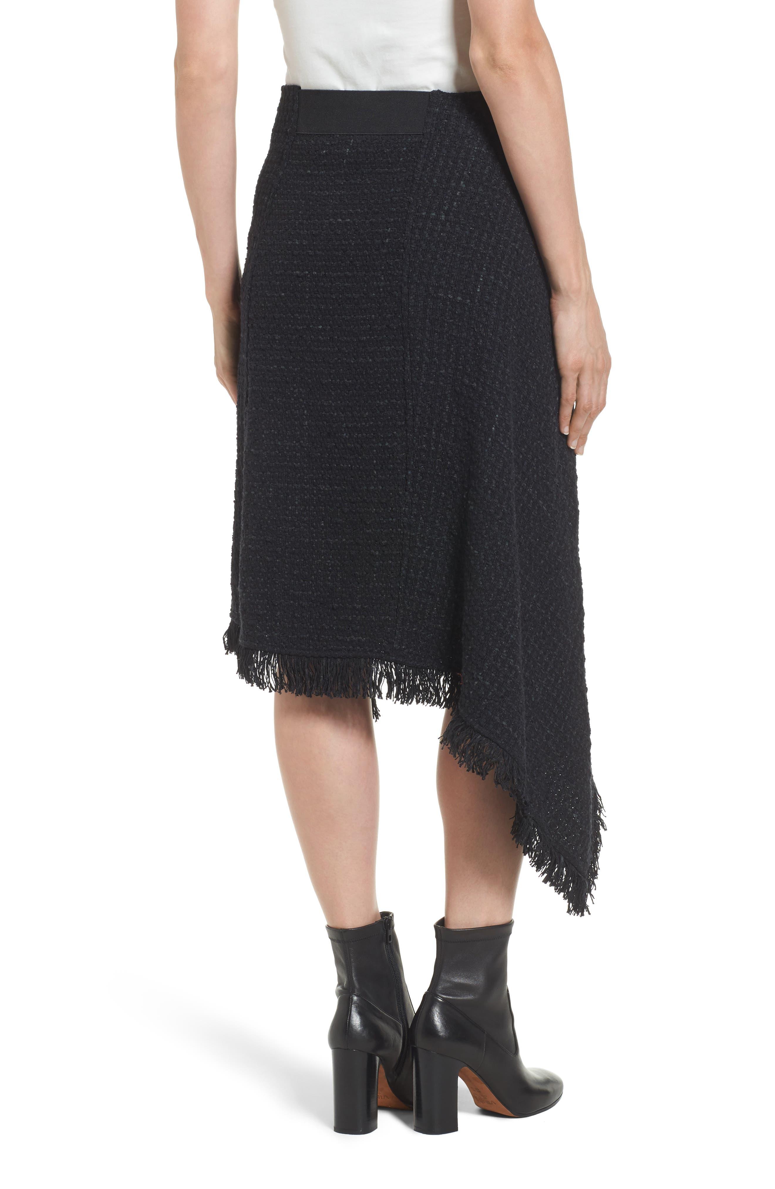 NIC + ZOE Majestic Tweed Skirt,                             Alternate thumbnail 2, color,                             004