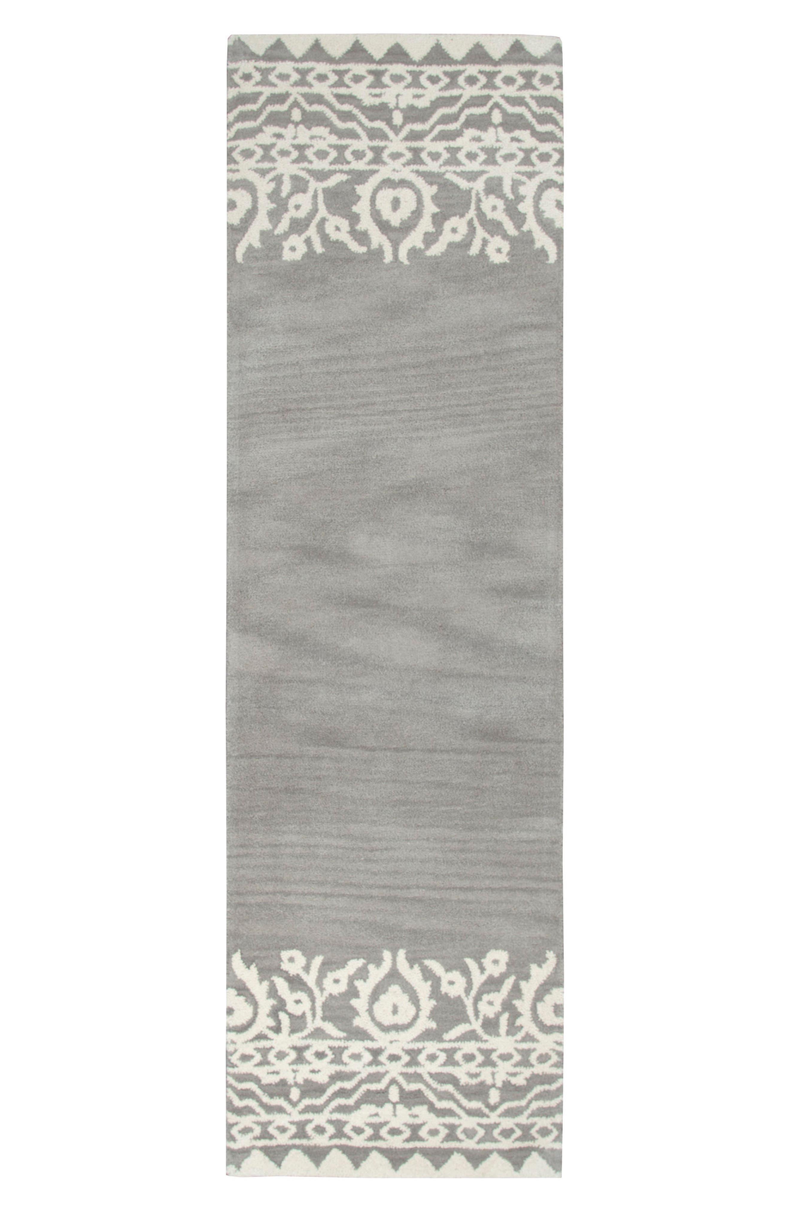 Framed Medallion Hand Tufted Wool Area Rug,                             Alternate thumbnail 14, color,