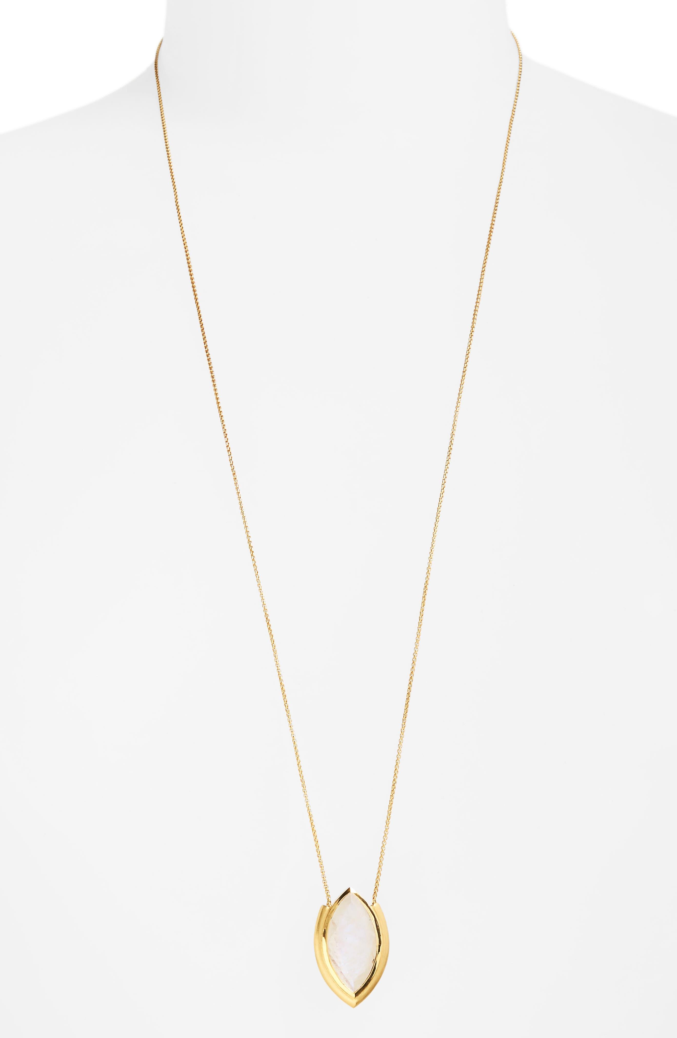 Lotus Pendant Necklace,                             Main thumbnail 2, color,
