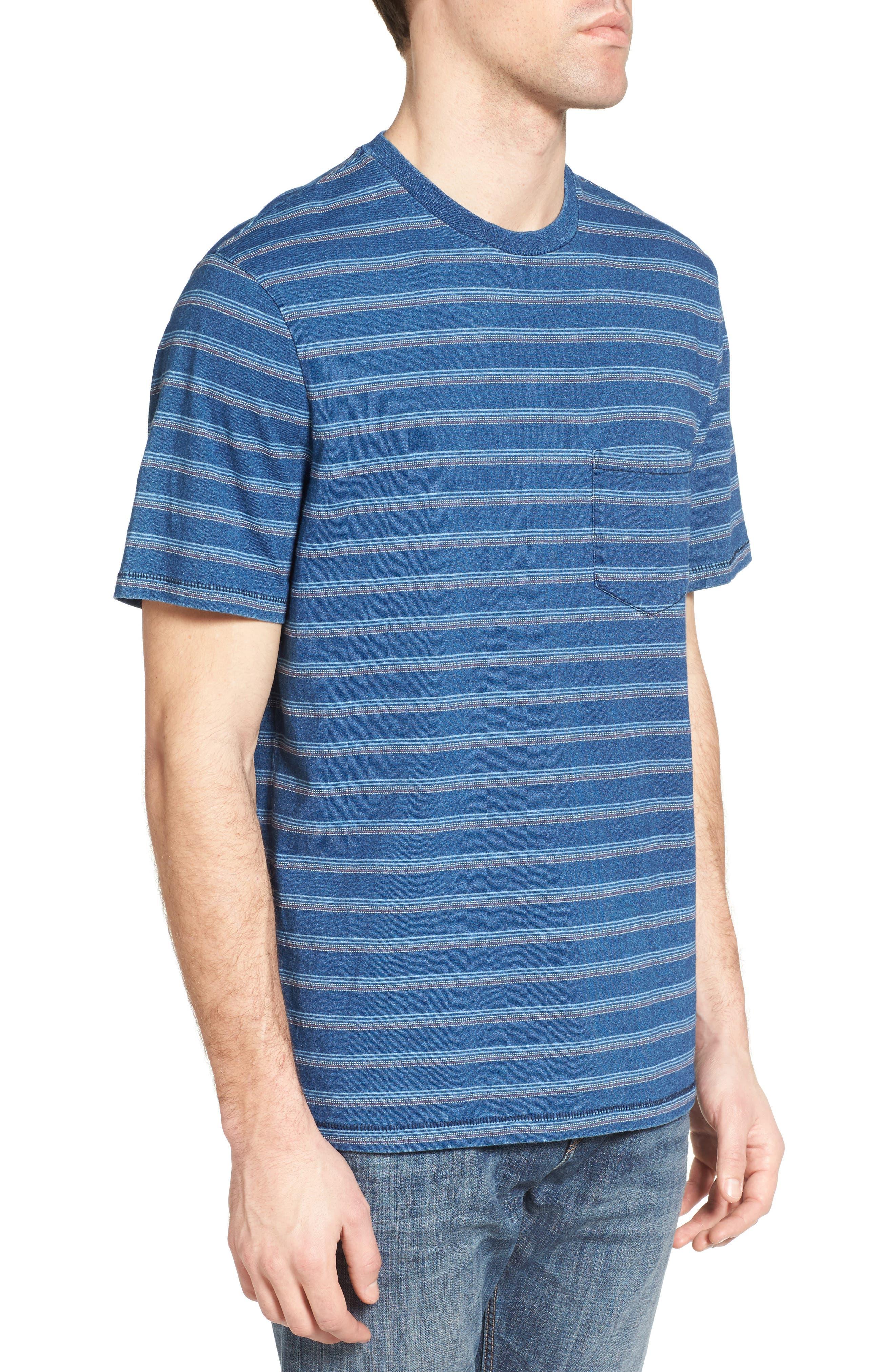 Stripe T-Shirt,                             Alternate thumbnail 3, color,                             405