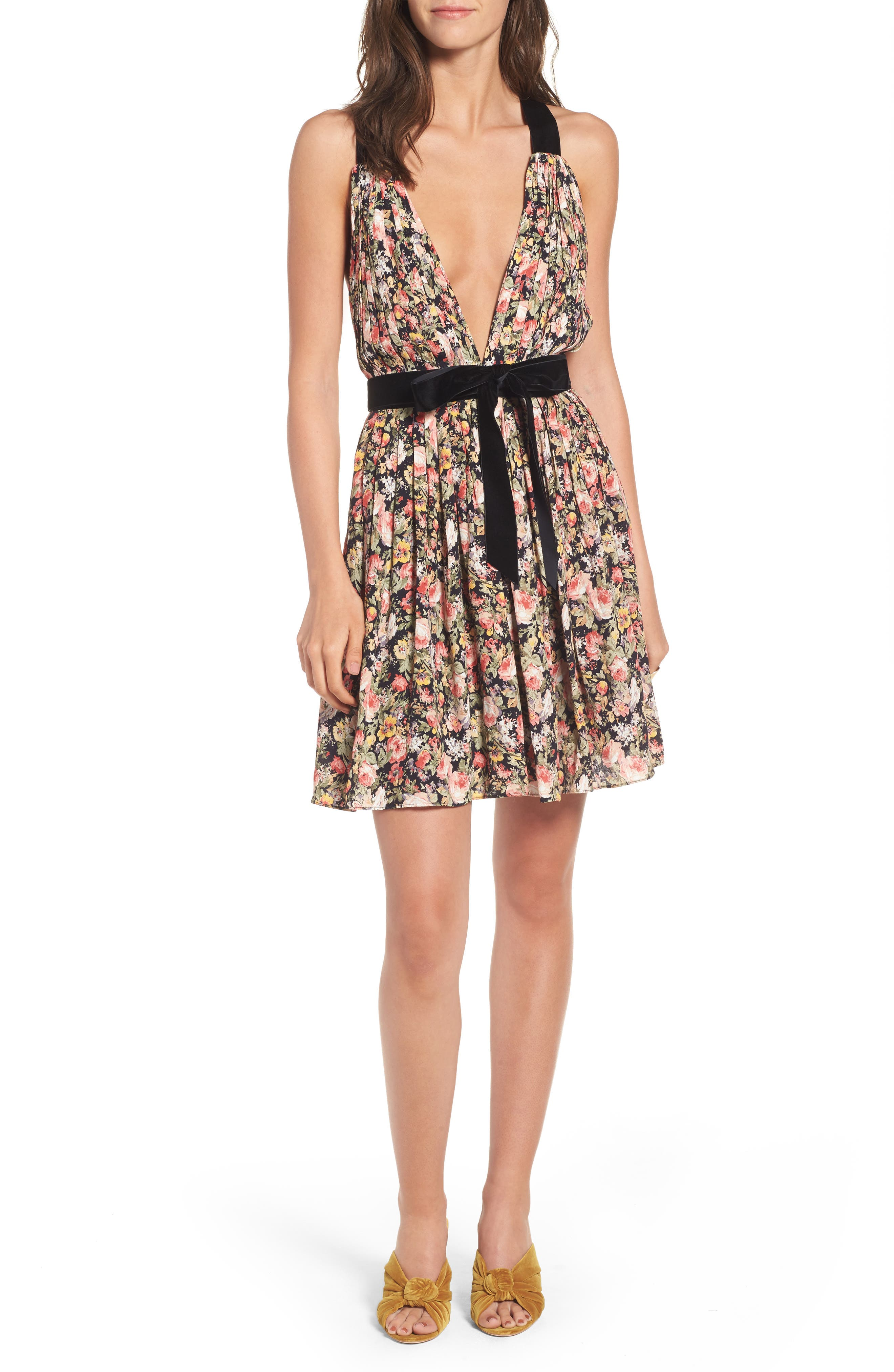 April Floral Minidress,                         Main,                         color, 019