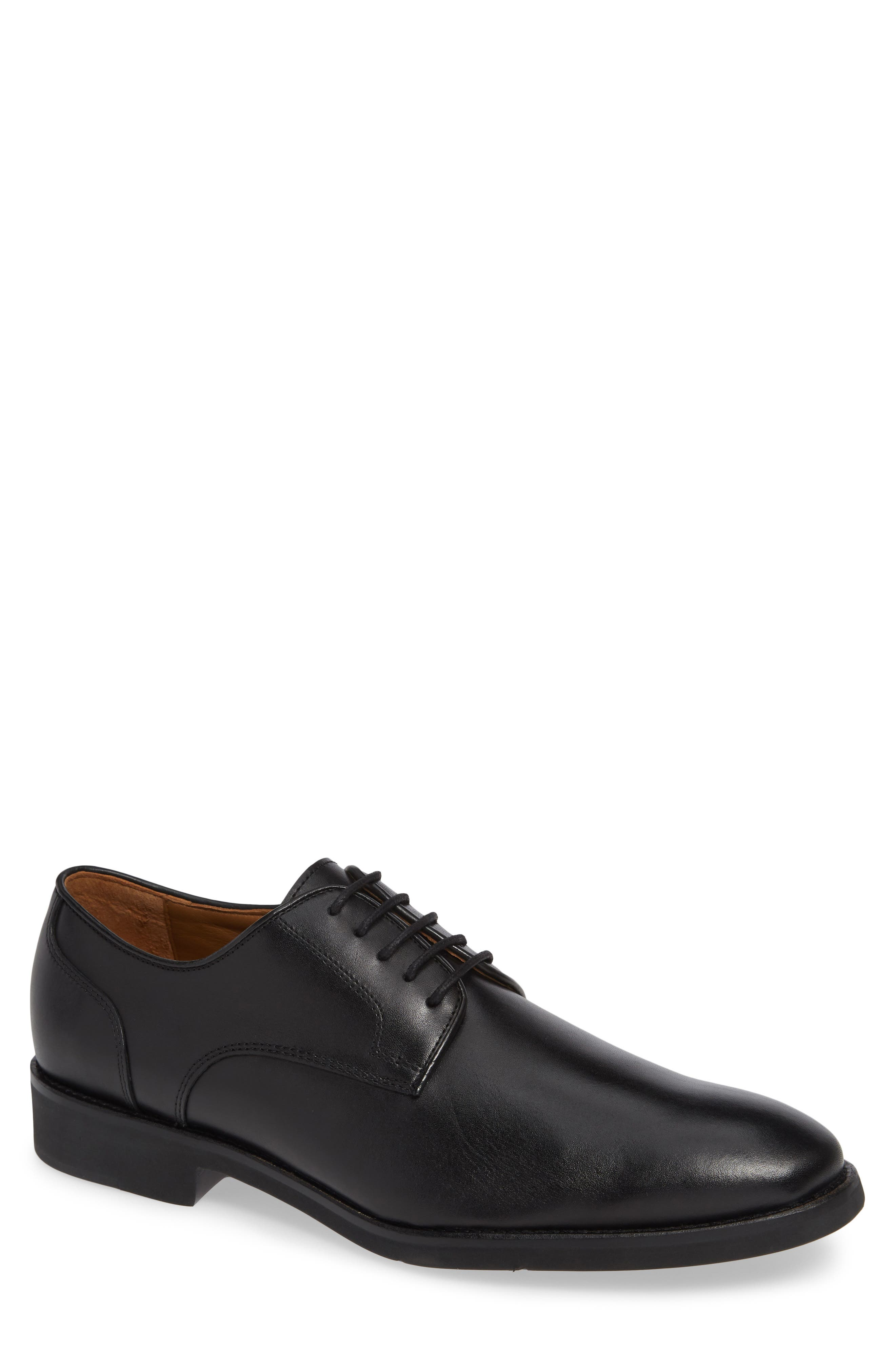Carlson Derby,                             Main thumbnail 1, color,                             BLACK LEATHER