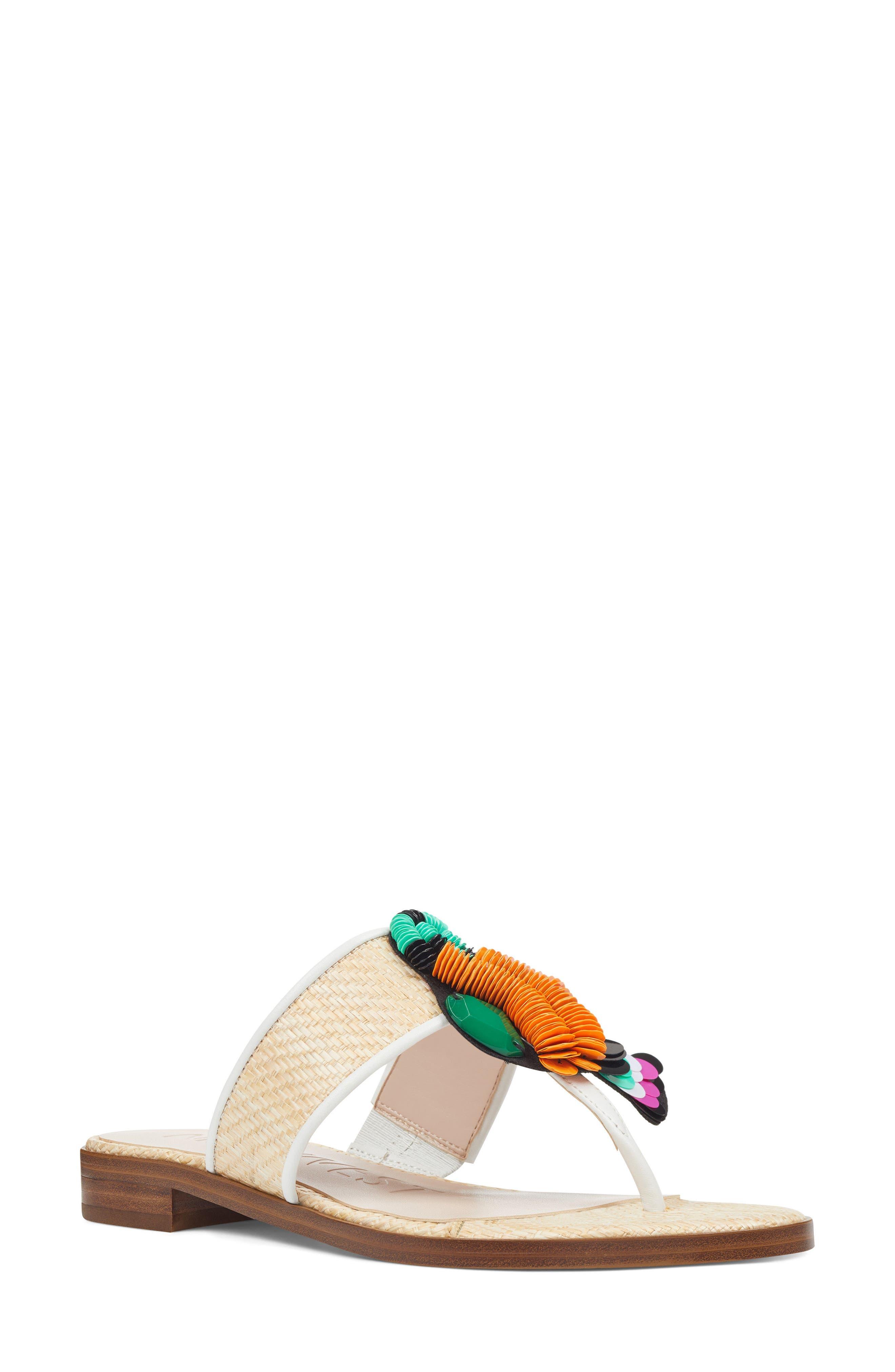 Roseriver Sandal,                         Main,                         color, NATURAL/ WHITE FABRIC