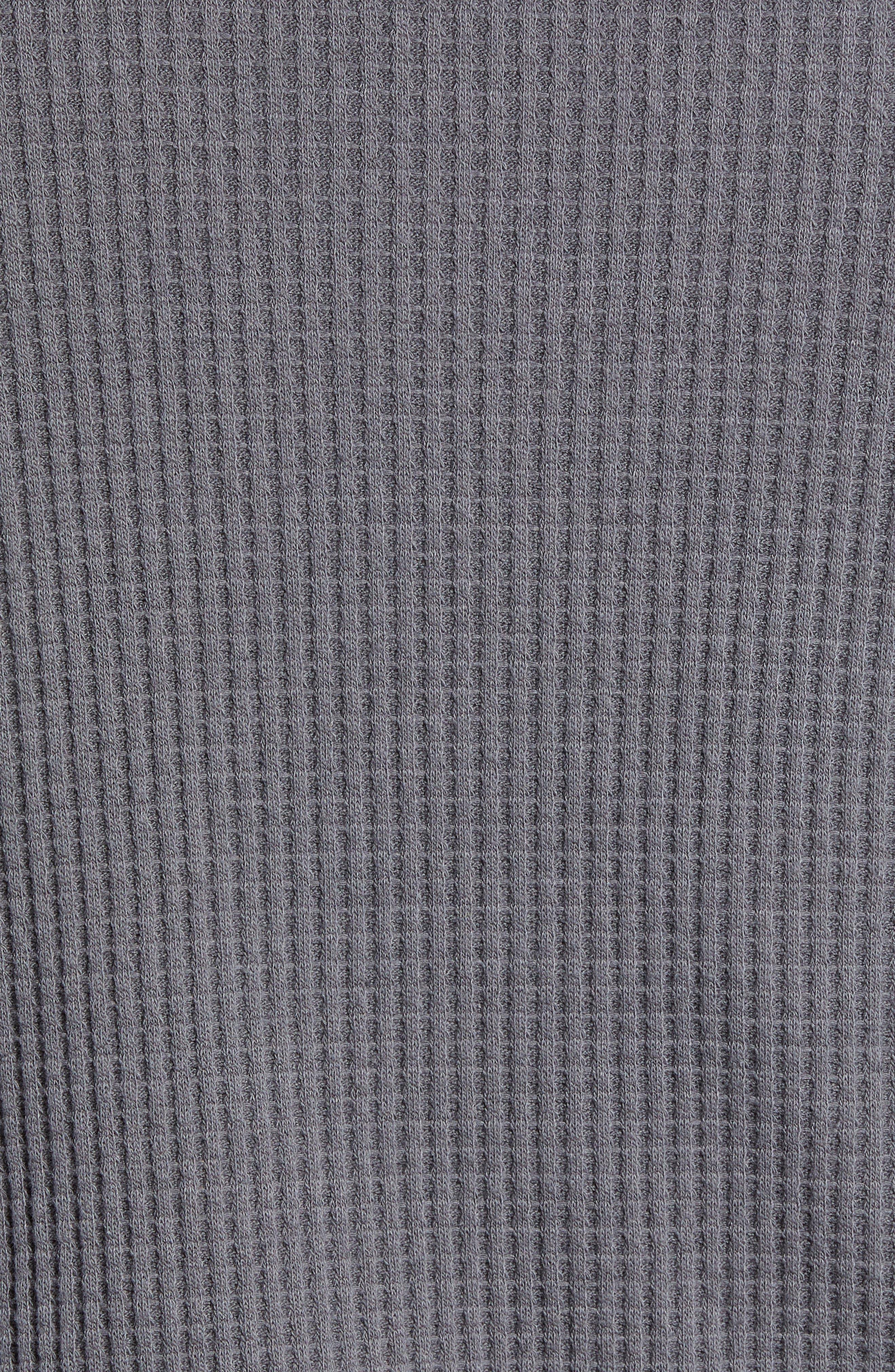 Regular Fit Thermal T-Shirt,                             Alternate thumbnail 5, color,                             GREY TORNADO