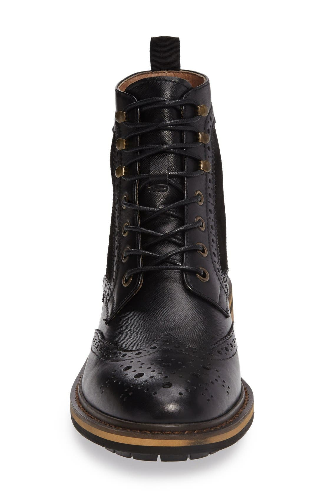 Grange Wingtip Boot,                             Alternate thumbnail 6, color,                             001