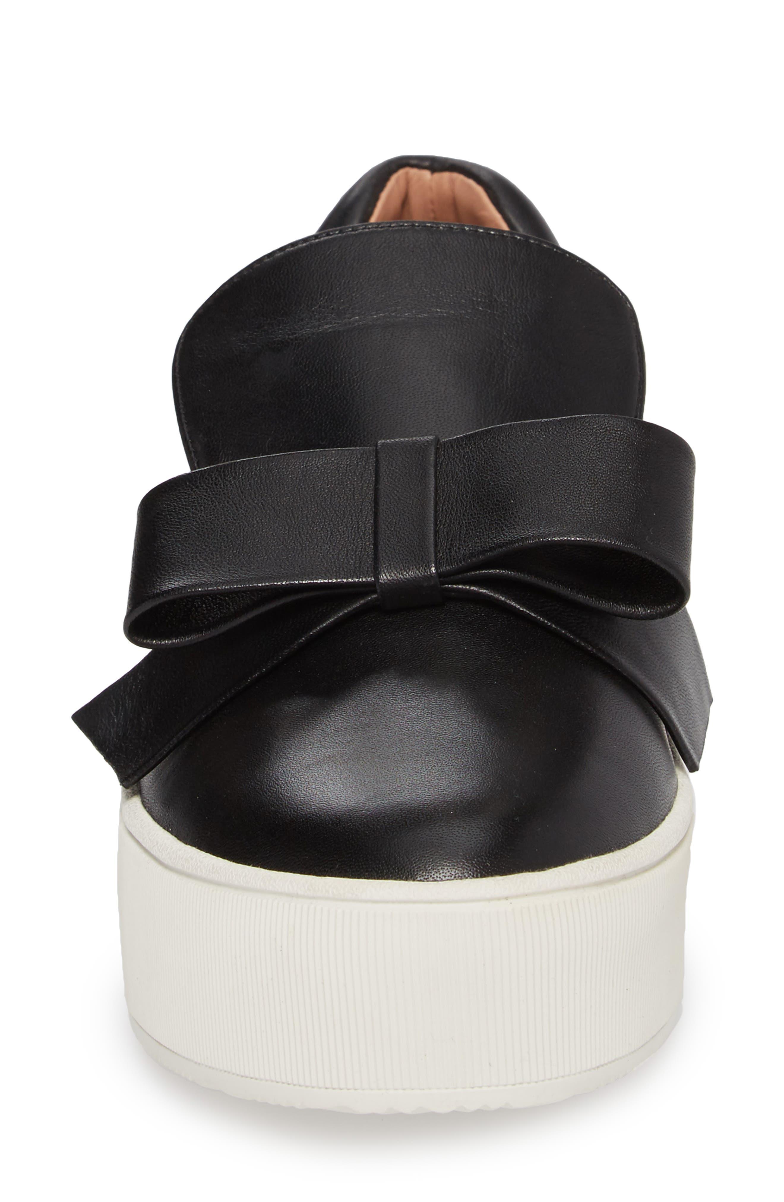 Vania Bow Platform Sneaker,                             Alternate thumbnail 4, color,                             001