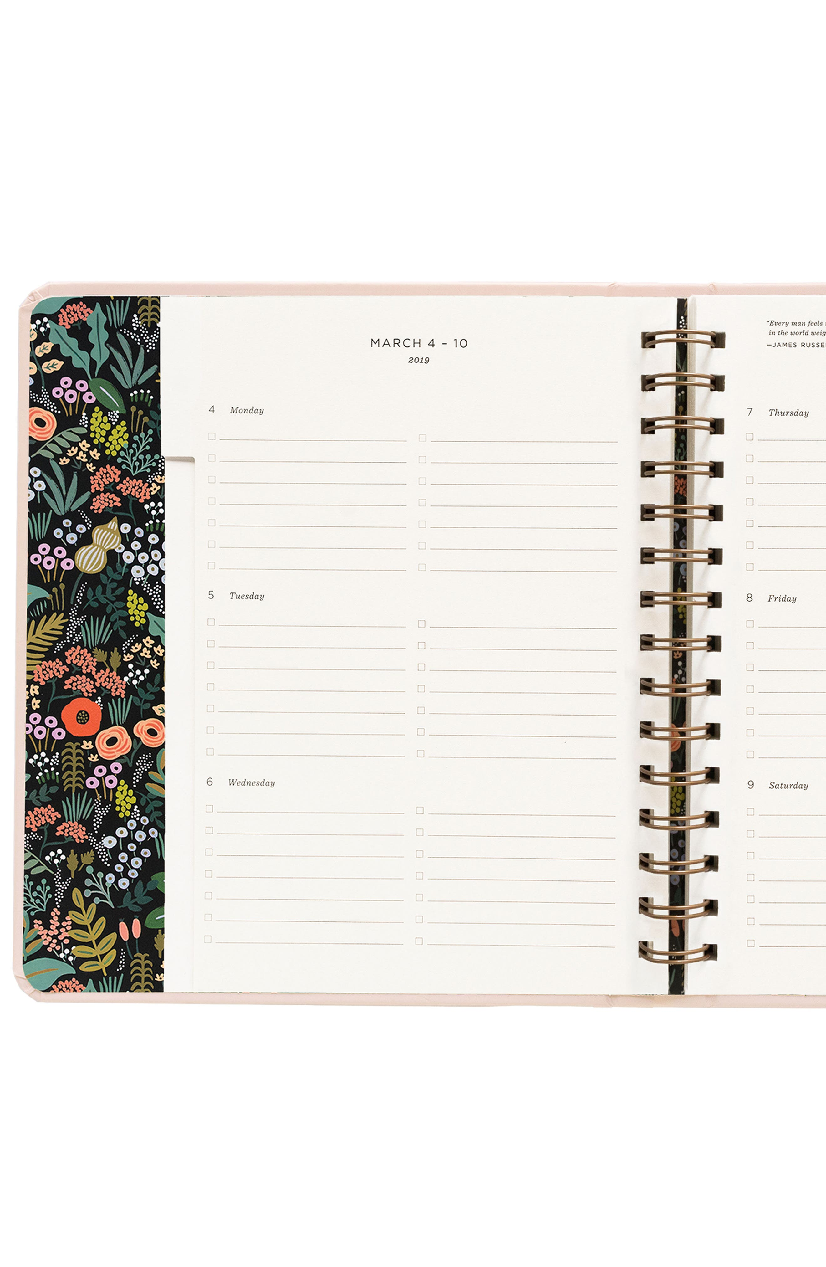 2019 Bouquet 17-Month Planner,                             Alternate thumbnail 7, color,                             PINK