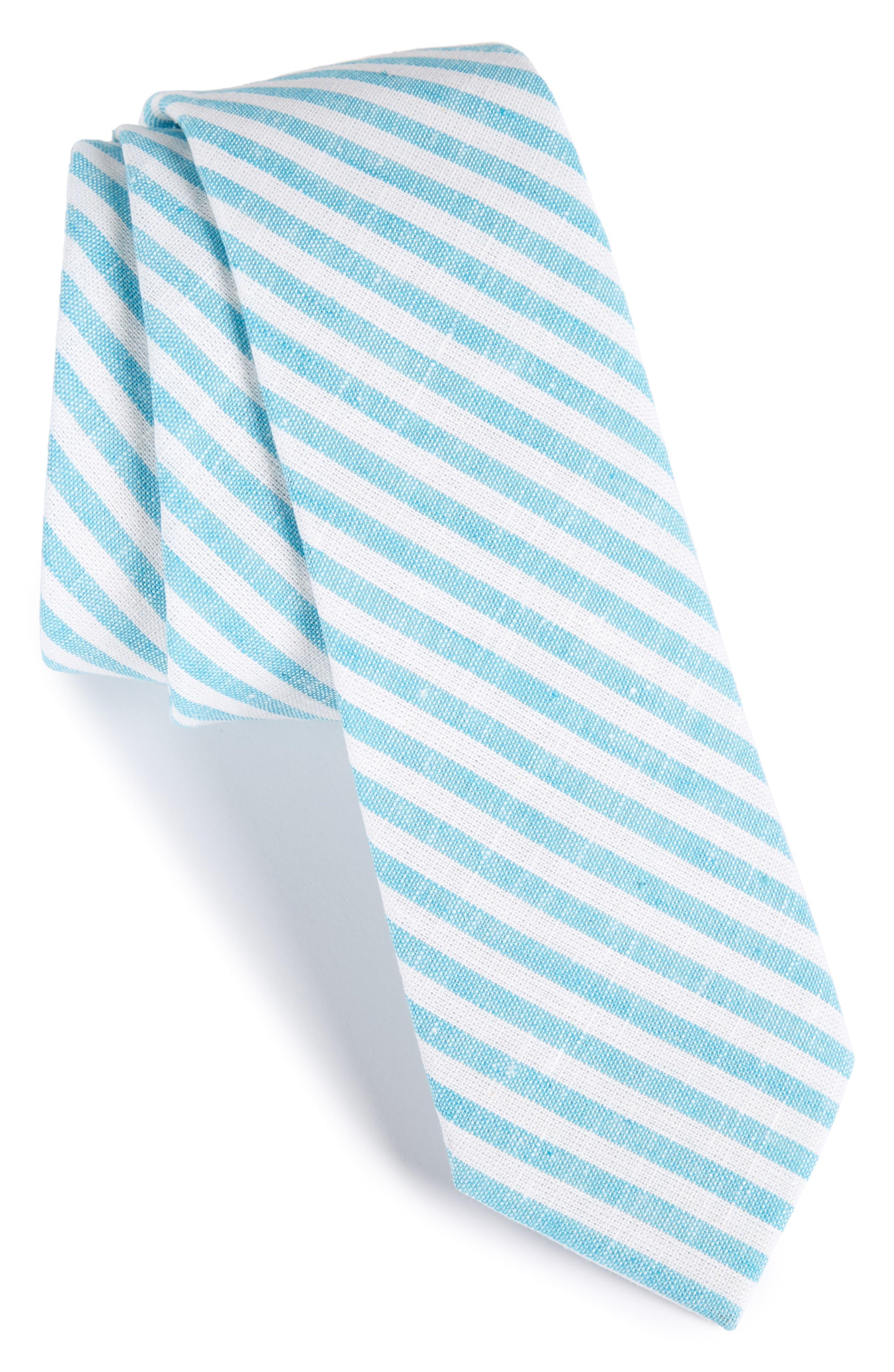 Stripe Cotton Tie,                             Main thumbnail 2, color,
