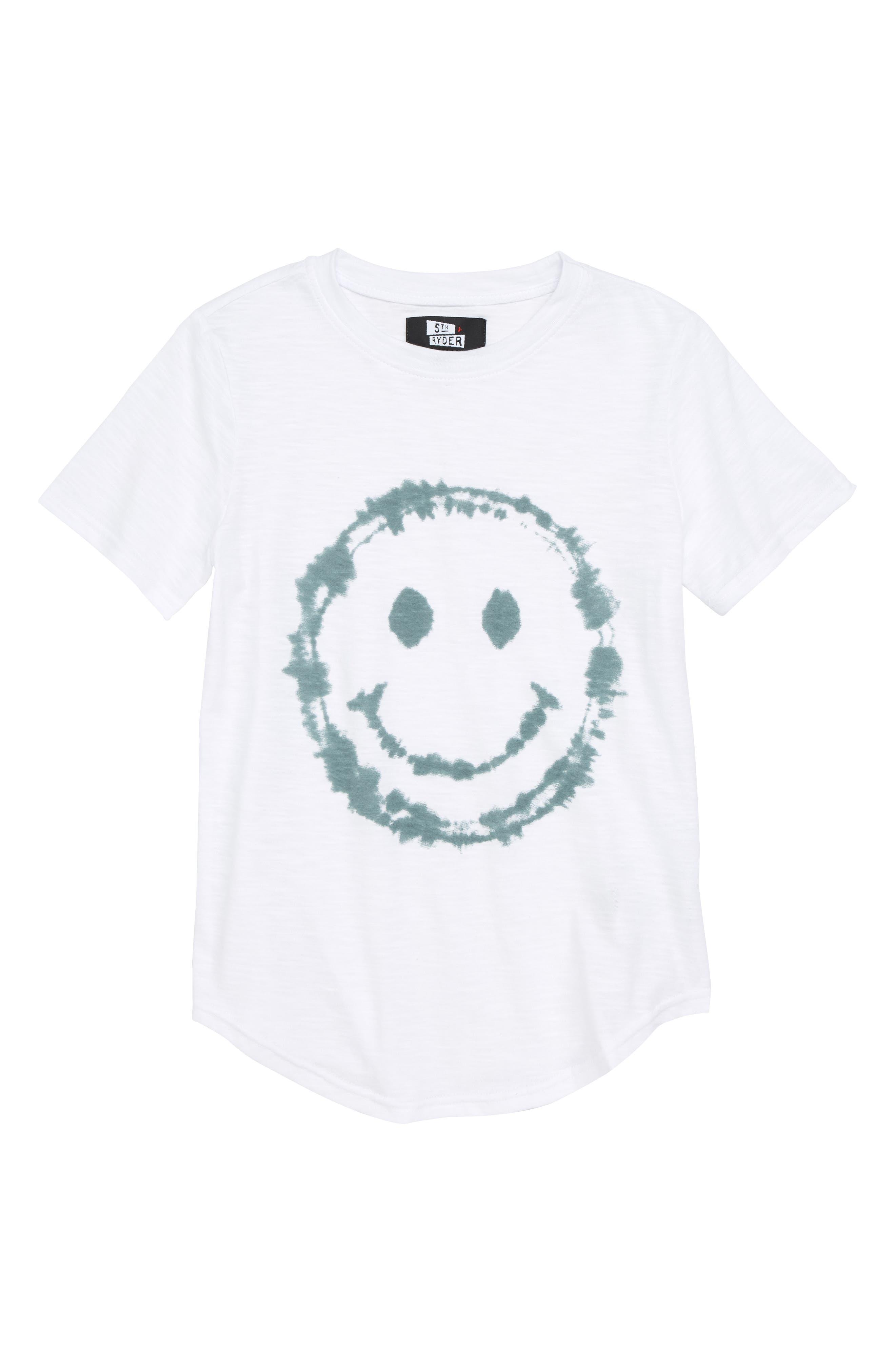 Smile Face T-Shirt,                             Main thumbnail 1, color,                             100