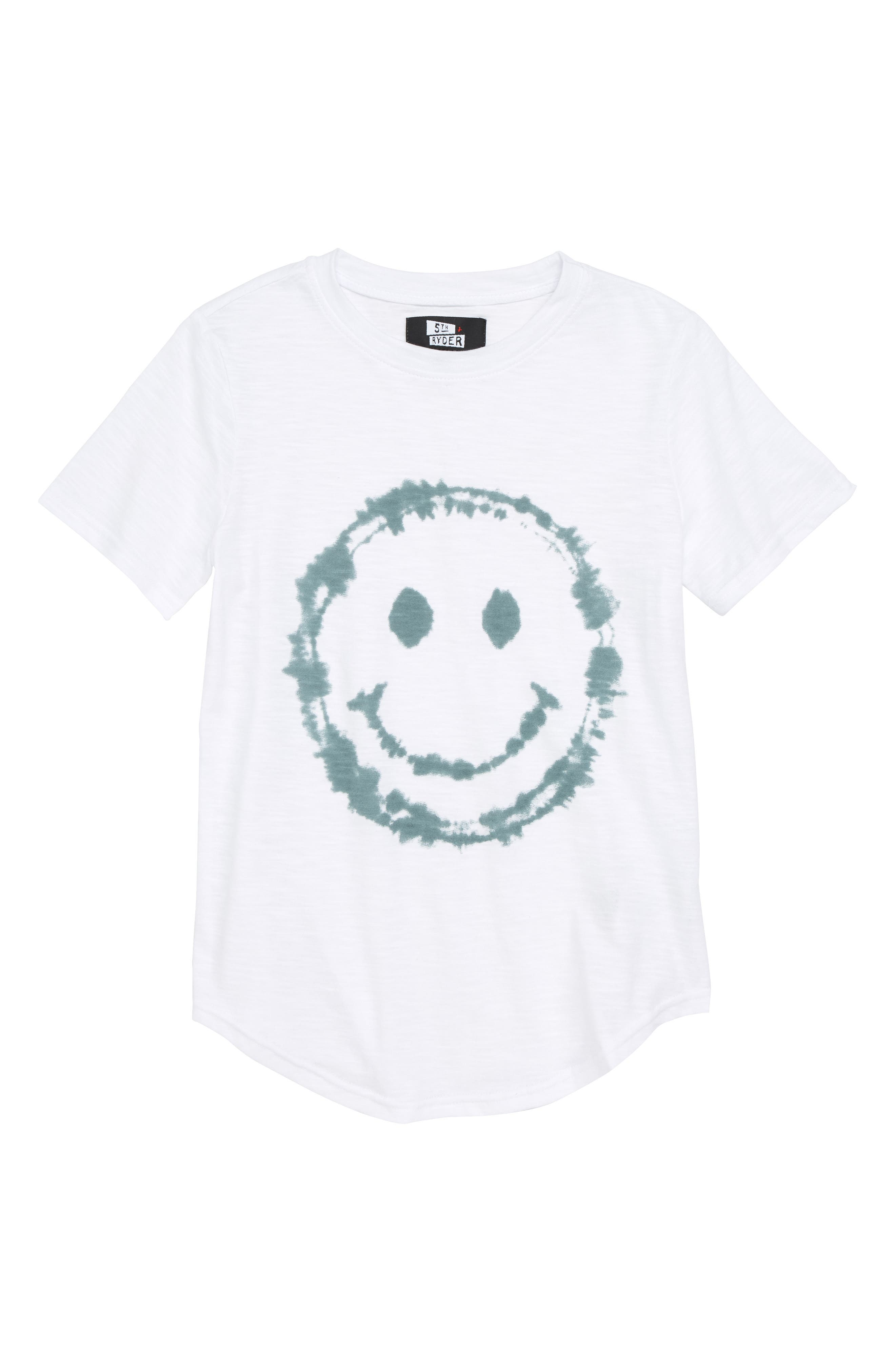 Smile Face T-Shirt,                         Main,                         color, 100