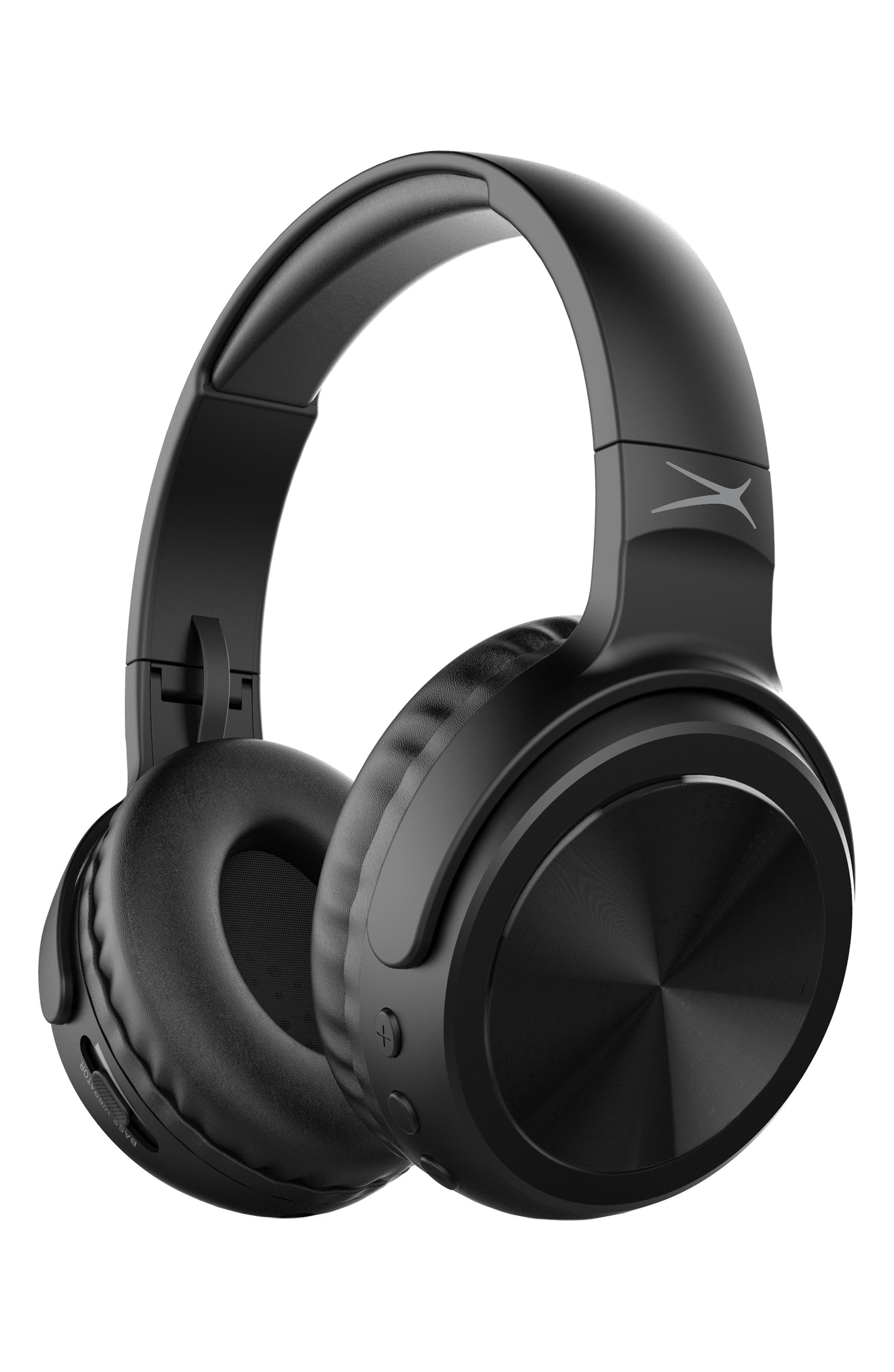 Rumble Bluetooth<sup>®</sup> Over-Ear Headphones,                         Main,                         color, BLACK