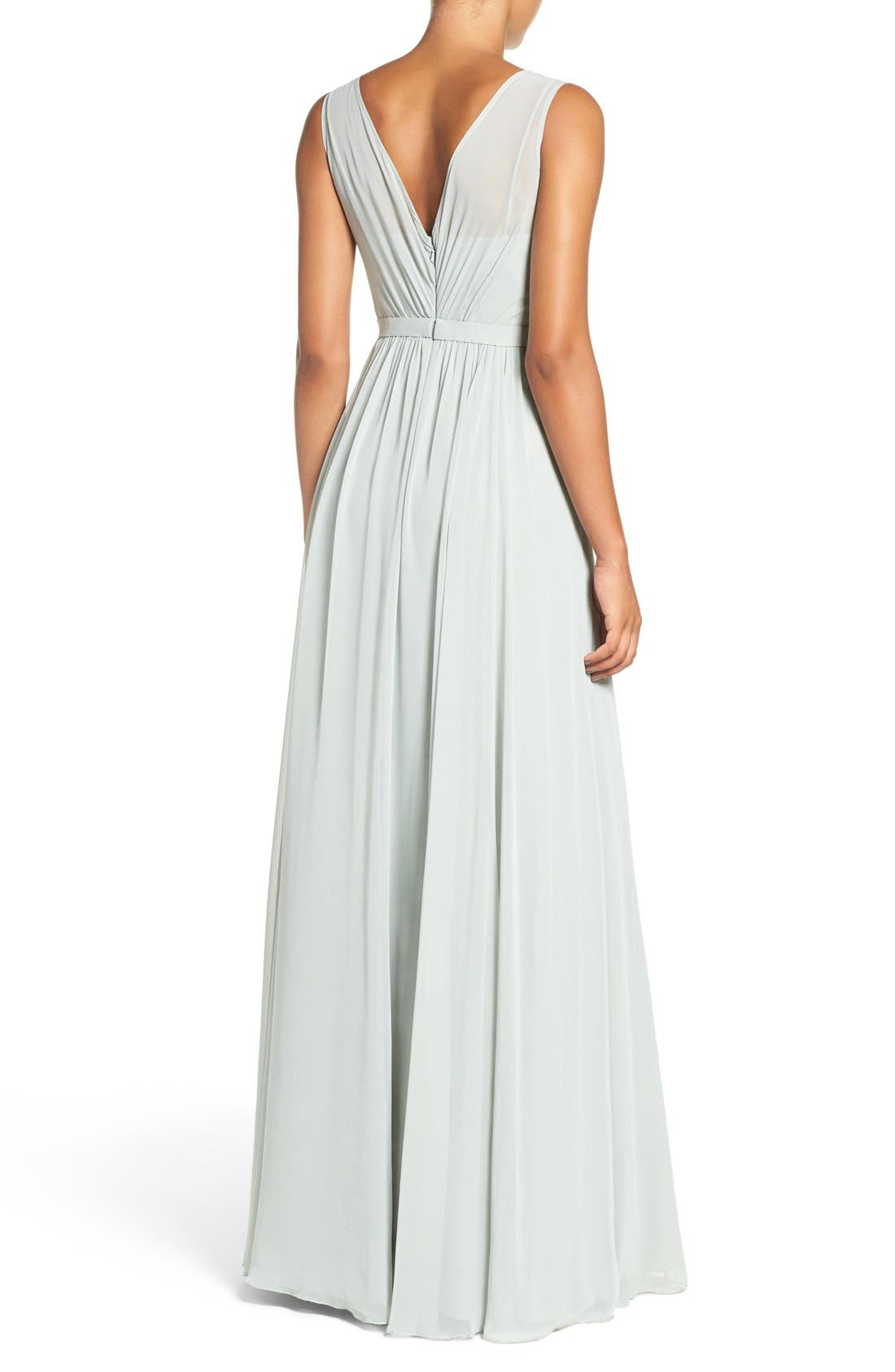 Vivienne Pleated Chiffon Gown,                             Alternate thumbnail 42, color,