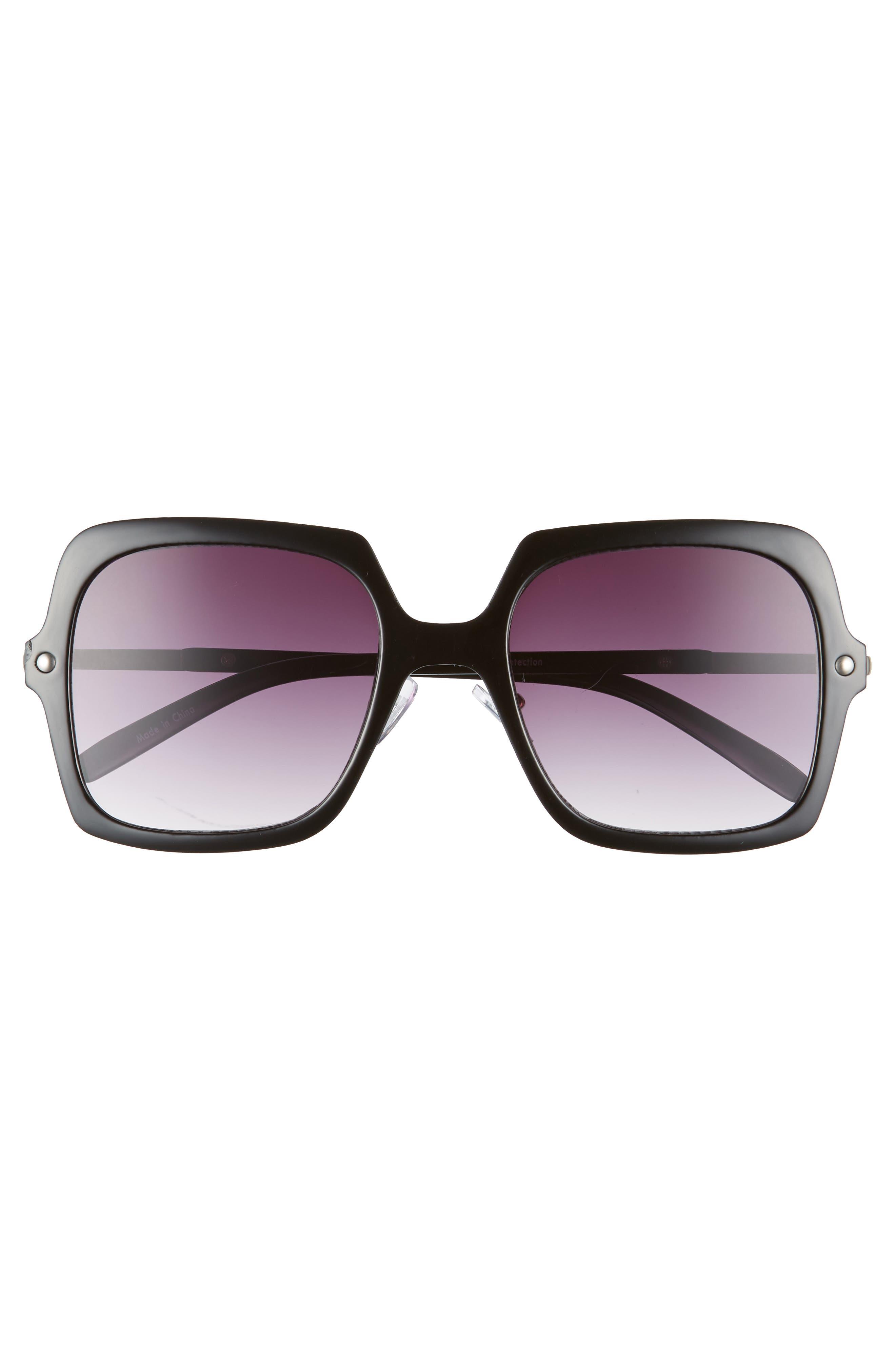 BP.,                             Translucent Square Sunglasses,                             Alternate thumbnail 3, color,                             001