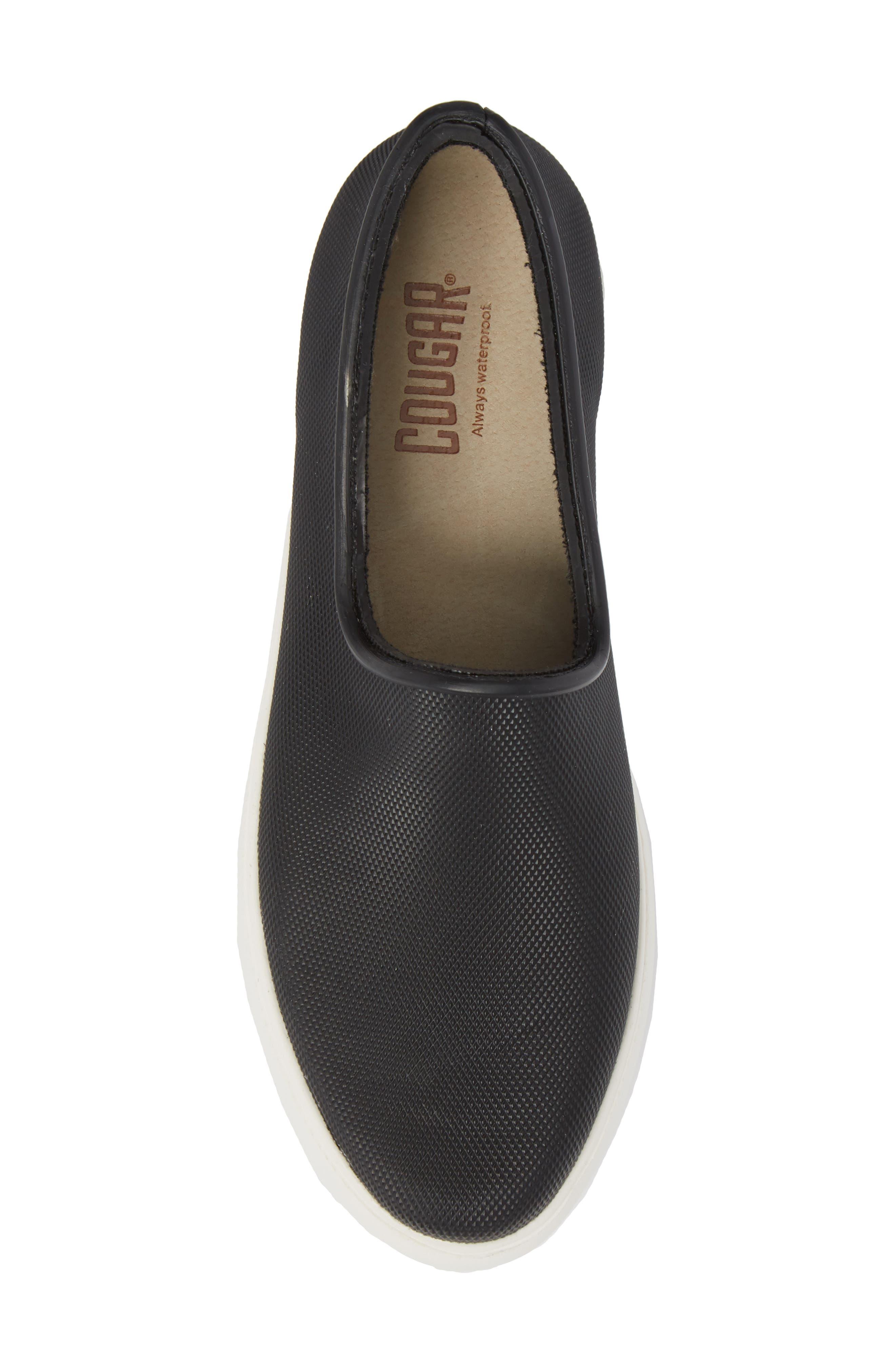 Rainy Day Waterproof Slip-On Sneaker,                             Alternate thumbnail 5, color,                             001