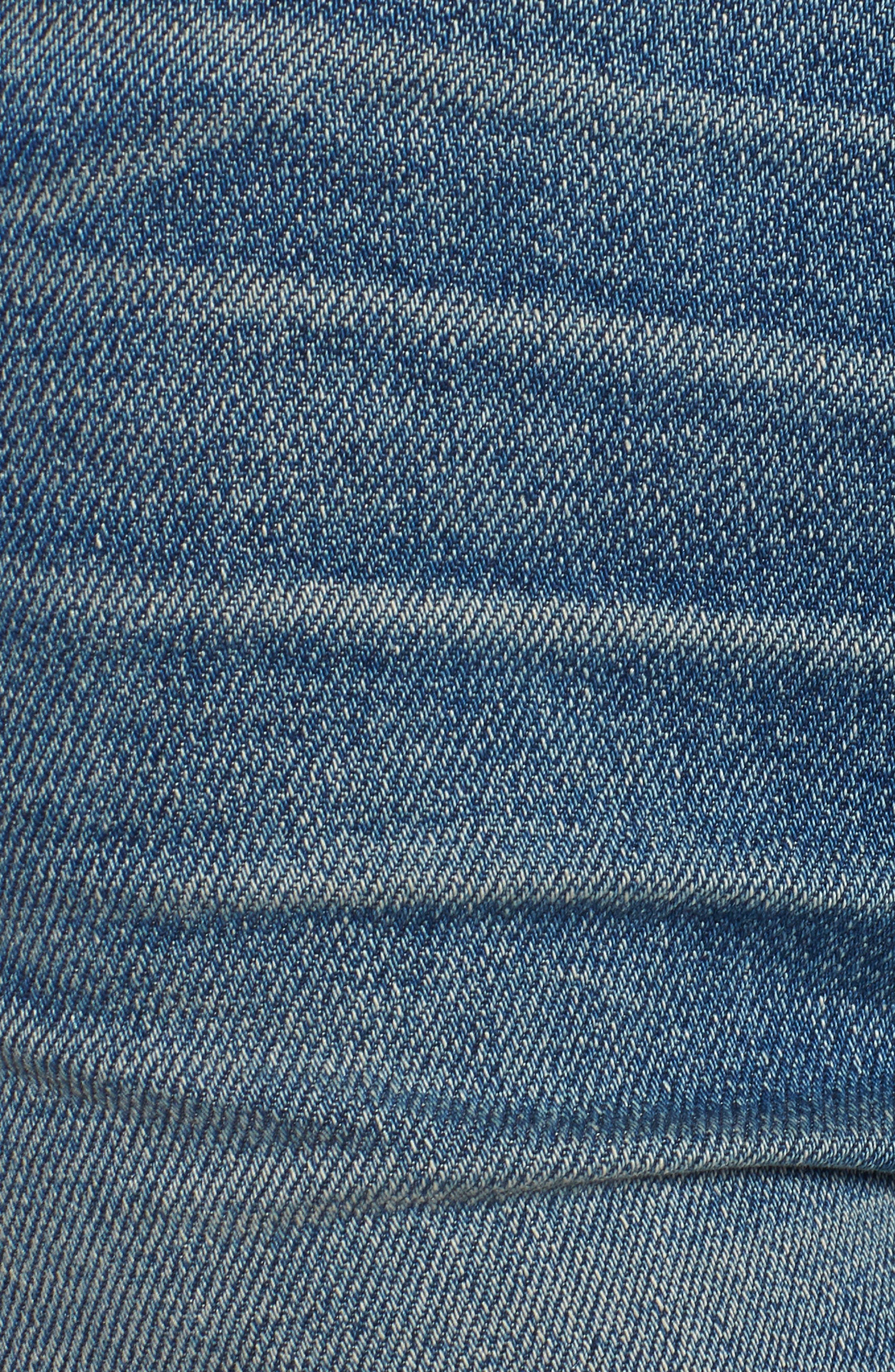 Sade Cutoff Denim Shorts,                             Alternate thumbnail 6, color,                             421