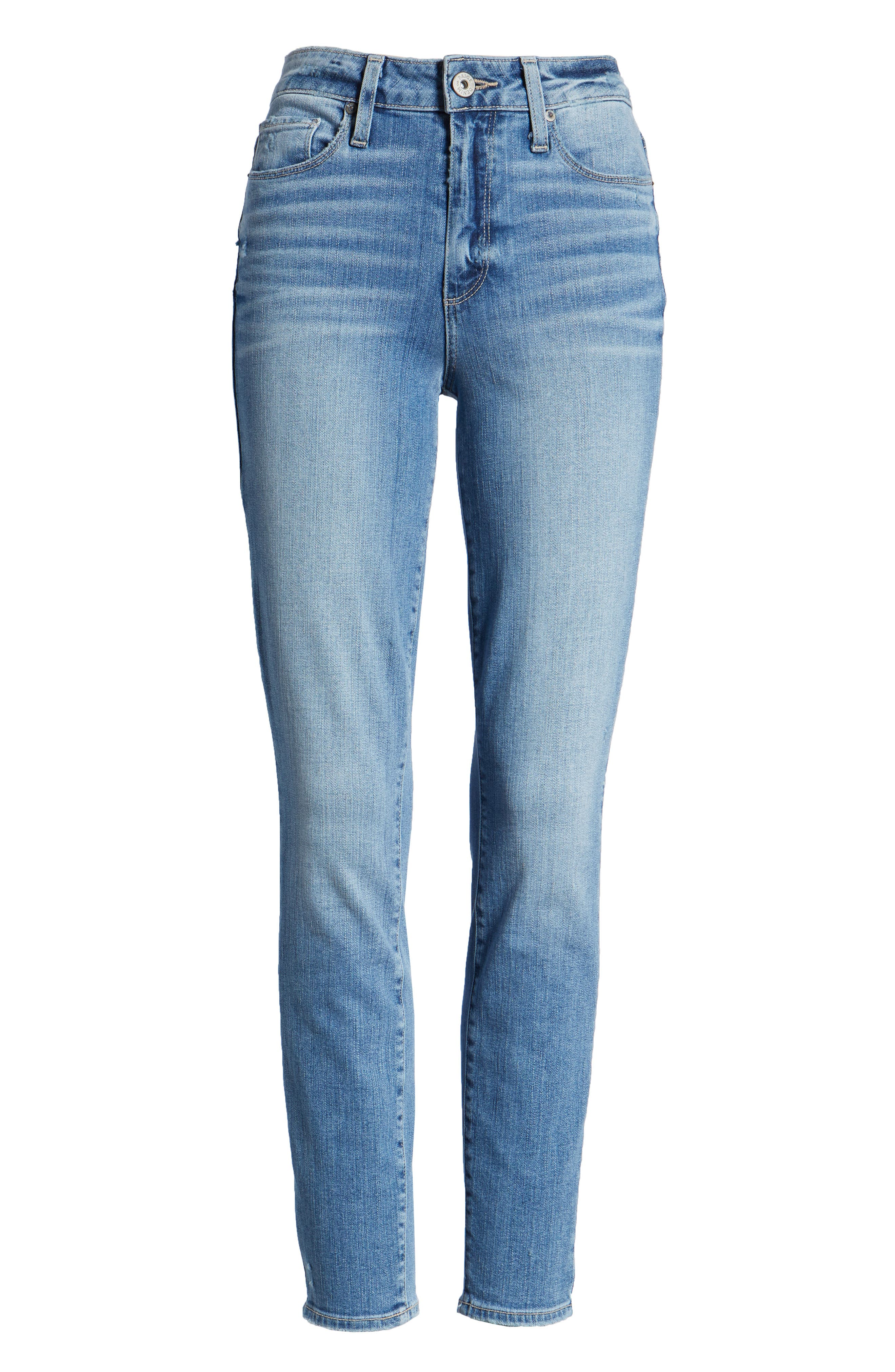 Hoxton Distressed Ankle Jeans,                             Alternate thumbnail 7, color,                             400