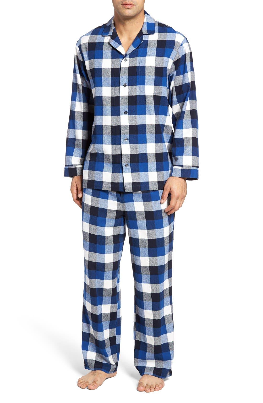 '824' Flannel Pajama Set,                             Main thumbnail 27, color,