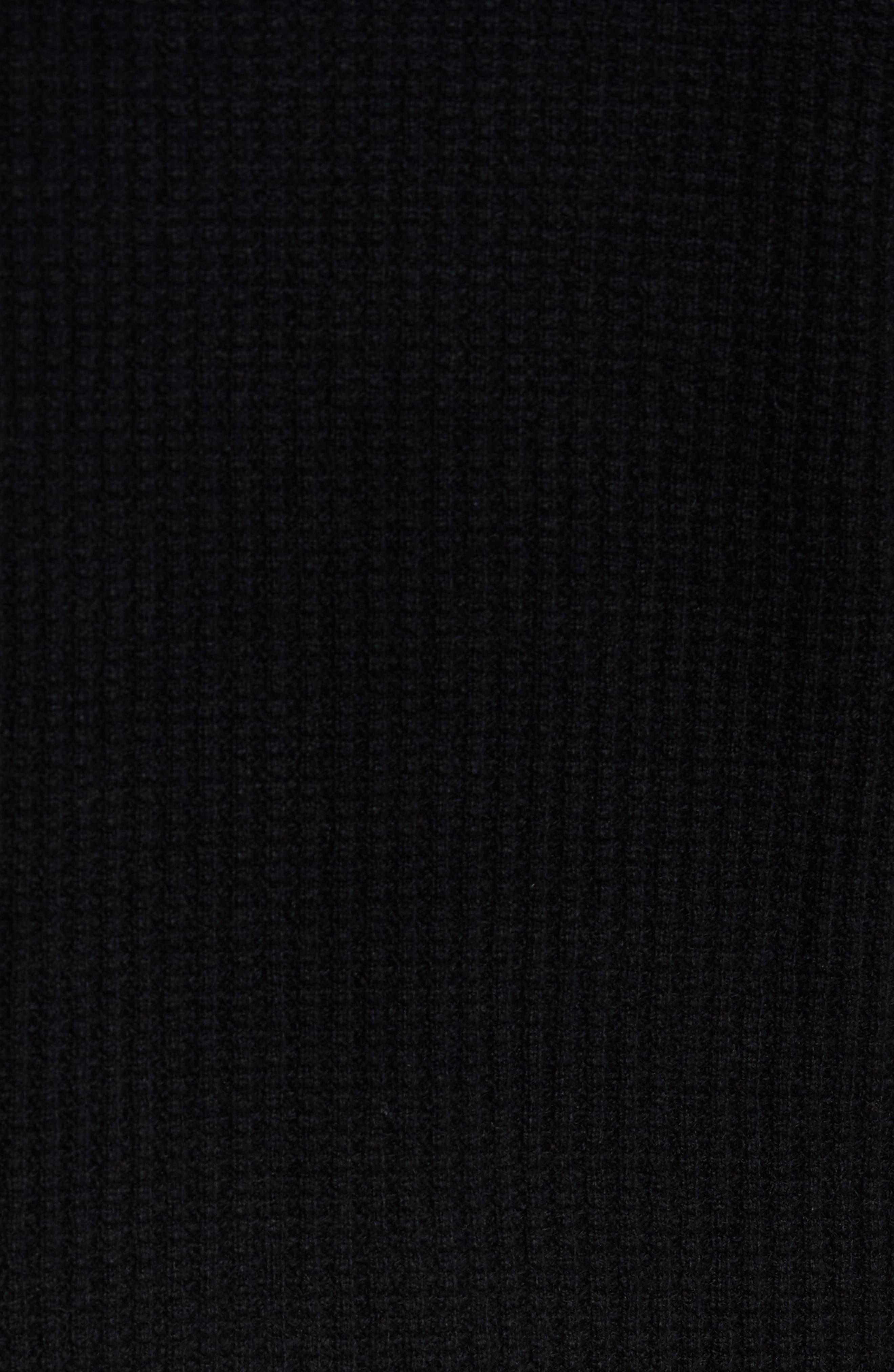 Deklyn Slim Fit Merino & Cashmere Sweatshirt,                             Alternate thumbnail 5, color,                             001