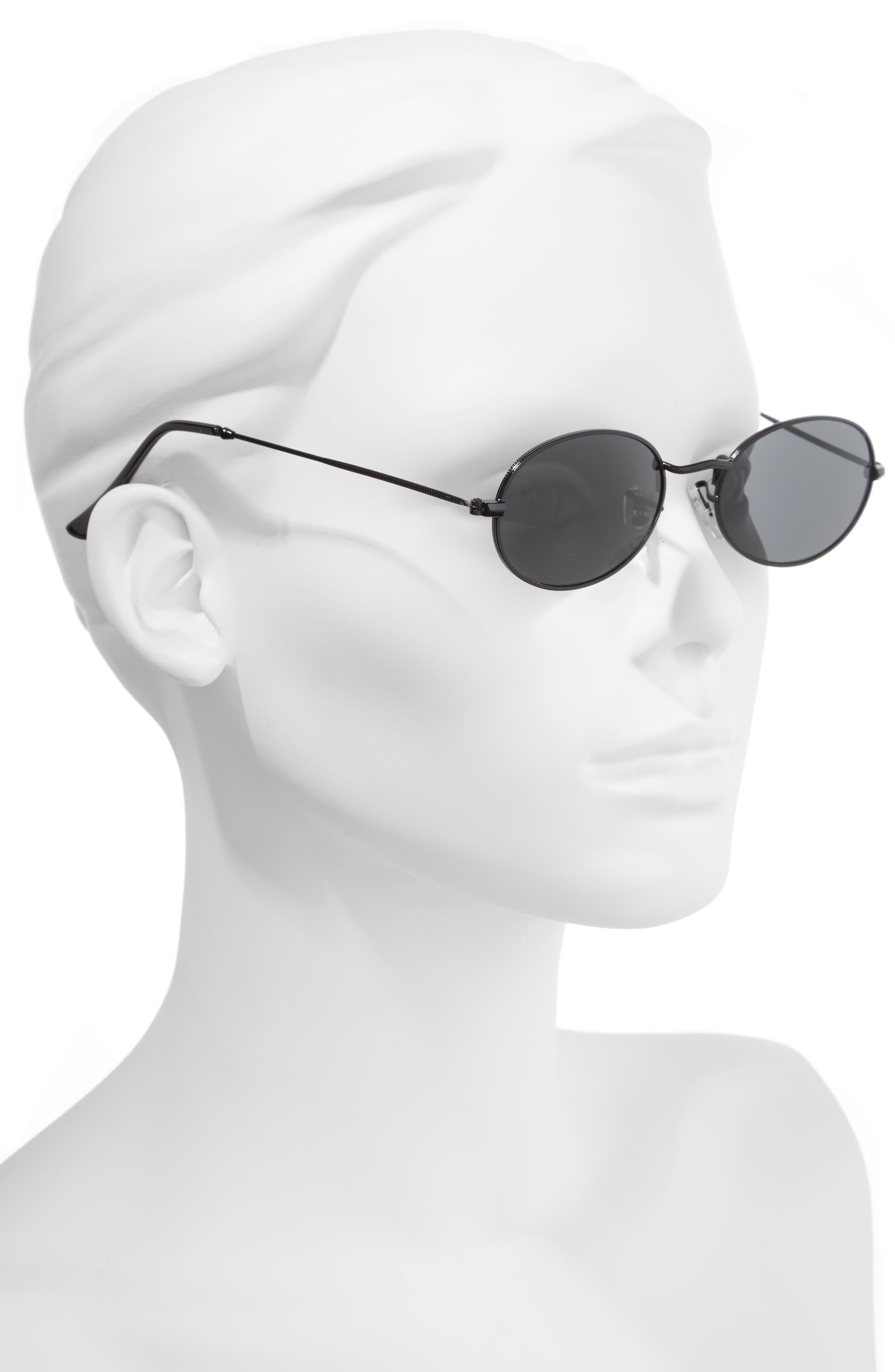 The Kendall 51mm Metal Sunglasses,                             Alternate thumbnail 2, color,                             001