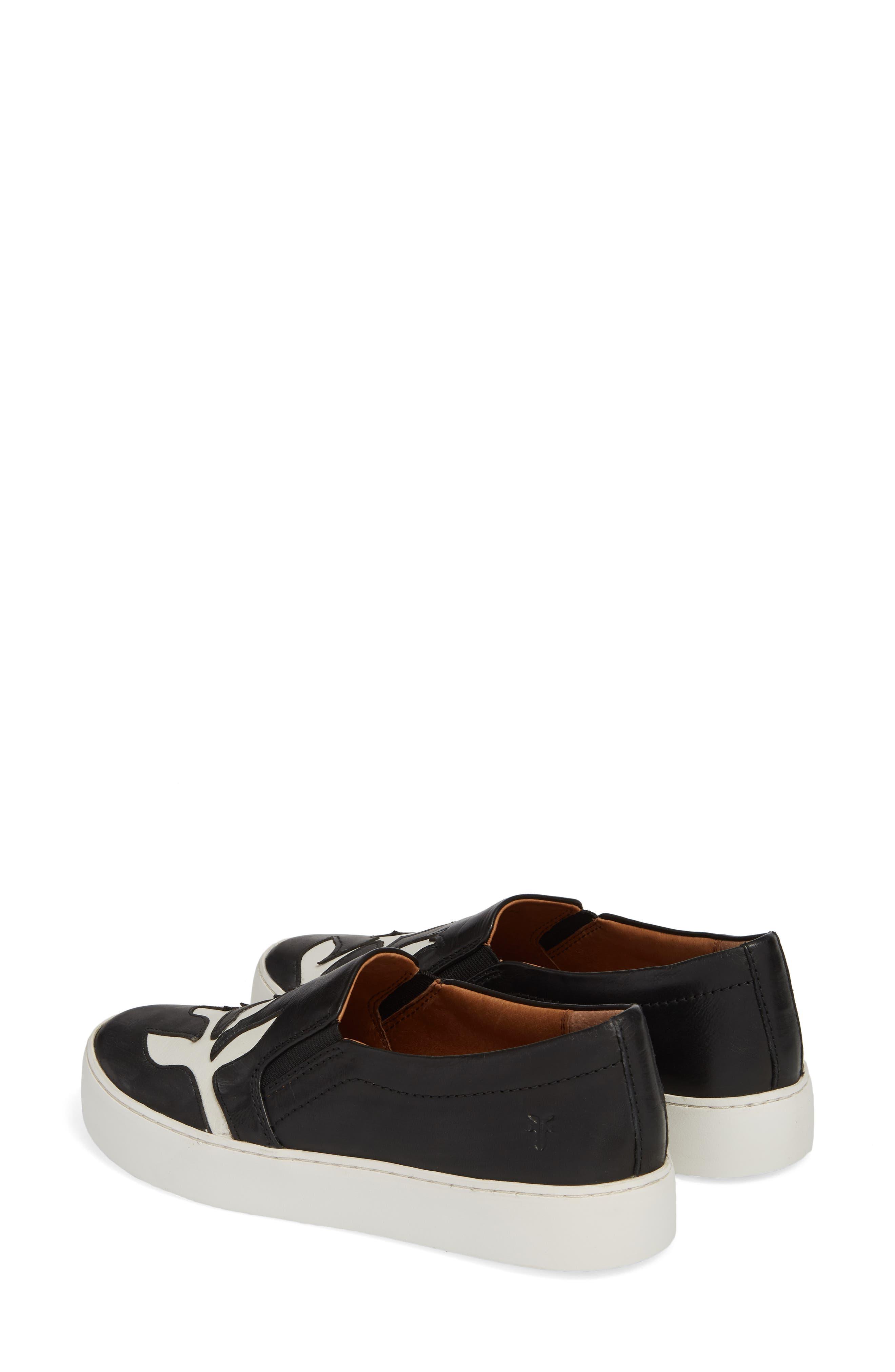 Lena Floral Slip-On Sneaker,                             Alternate thumbnail 3, color,                             001