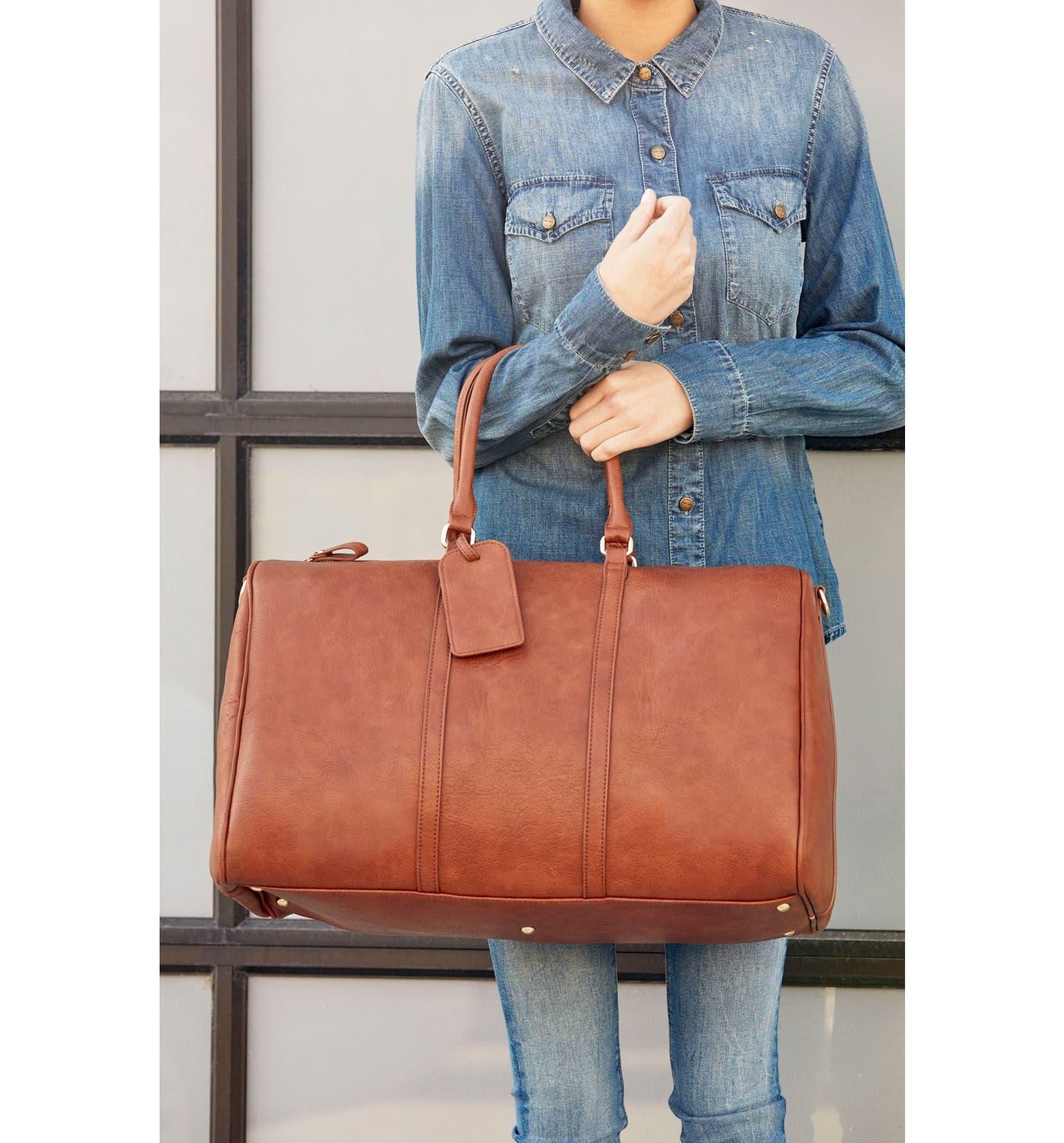 Sole Society  Lacie  Faux Leather Duffel Bag  6a7b6027d91fe