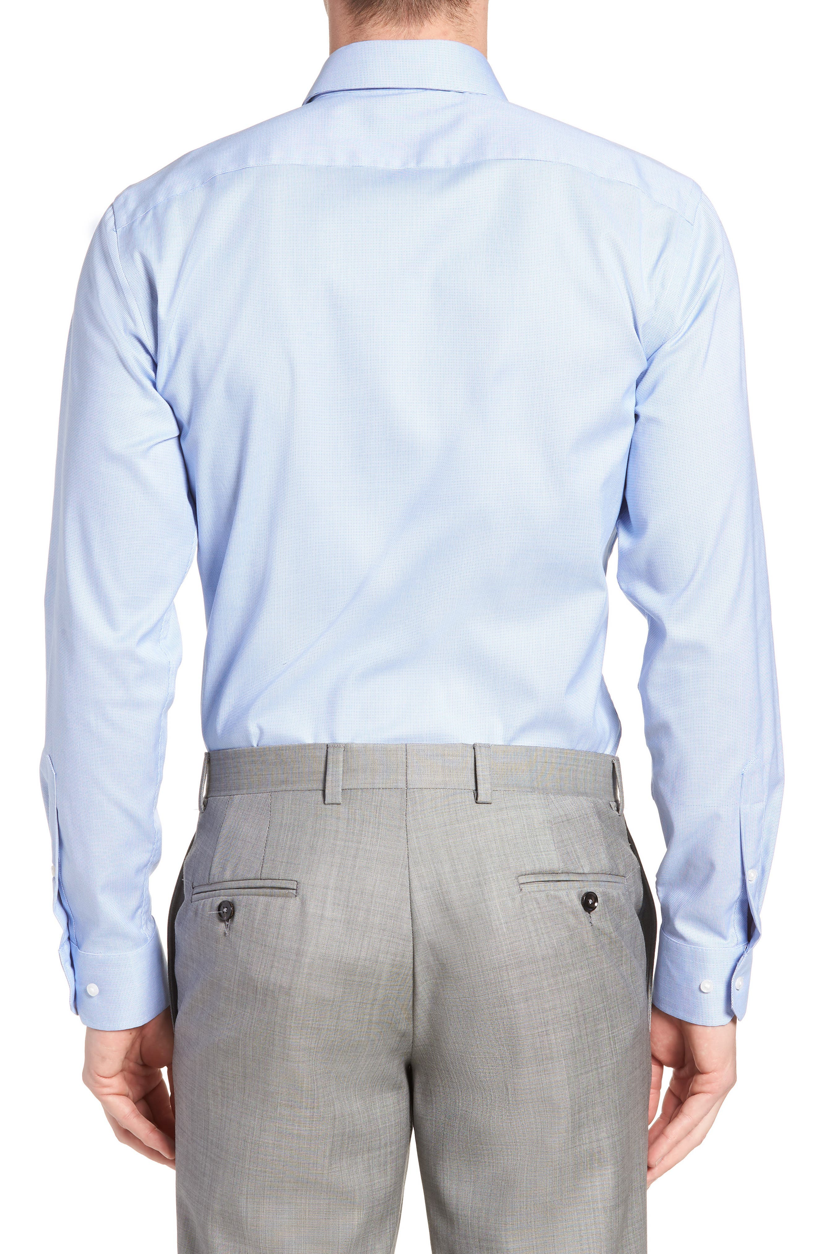 Trim Fit Non-Iron Stretch Dress Shirt,                             Alternate thumbnail 3, color,                             450