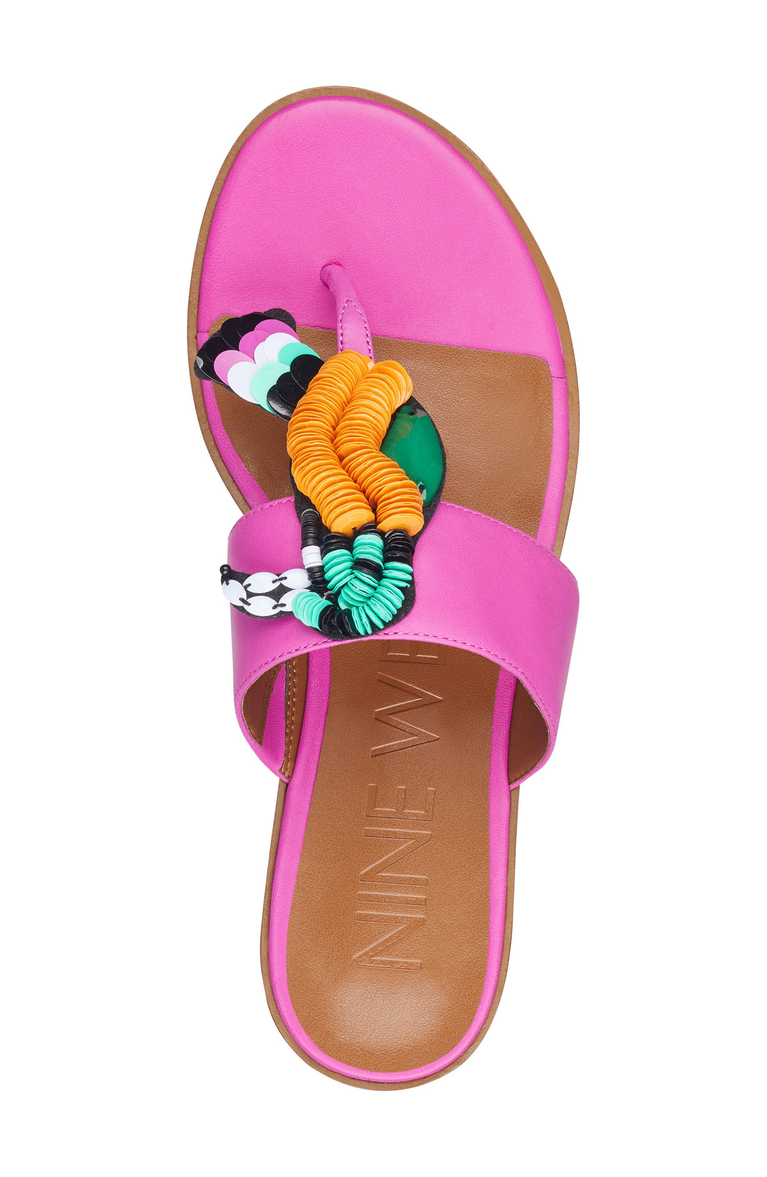 Roseriver Sandal,                             Alternate thumbnail 5, color,                             PINK LEATHER