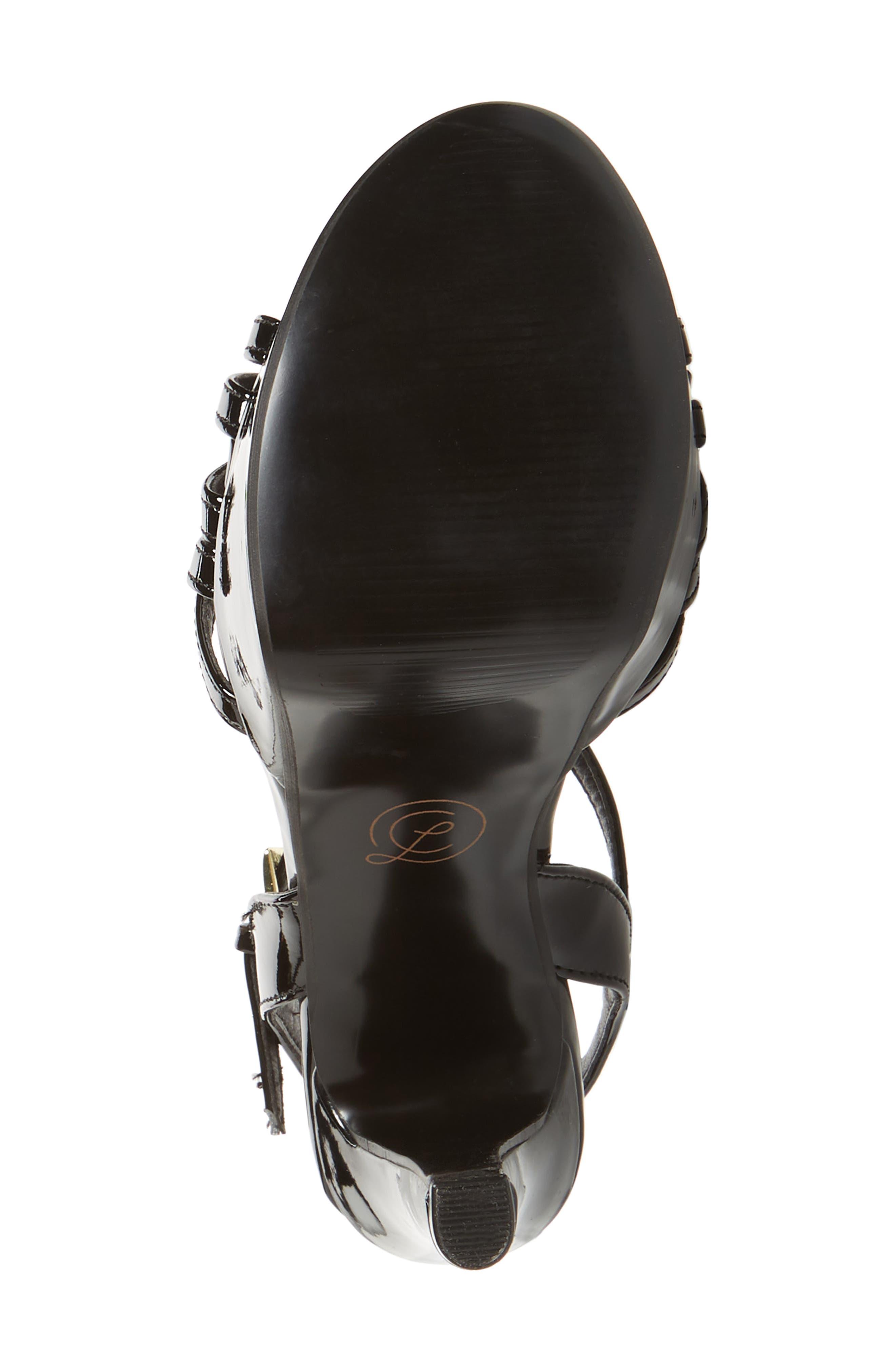 Teaser2 Platform Sandal,                             Alternate thumbnail 6, color,                             BLACK PATENT