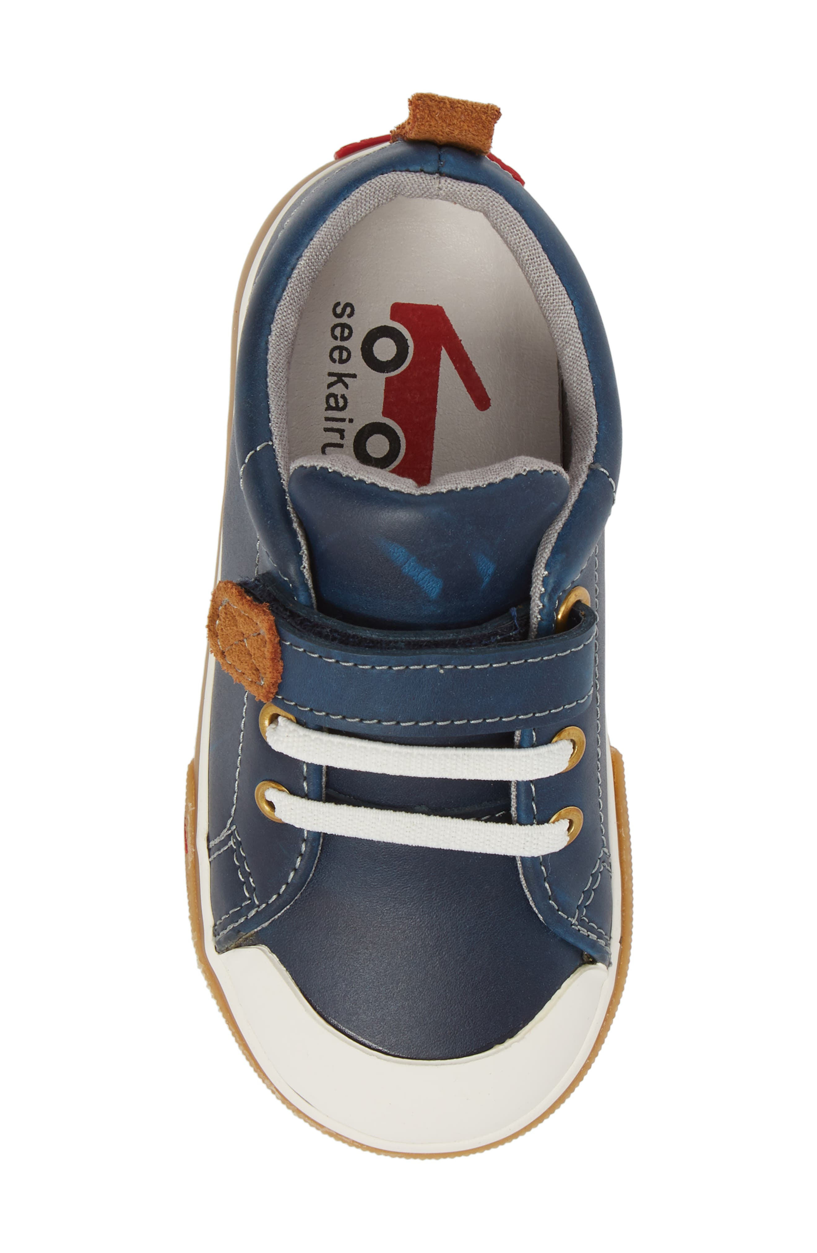 Stevie II Sneaker,                             Alternate thumbnail 5, color,                             NAVY LEATHER