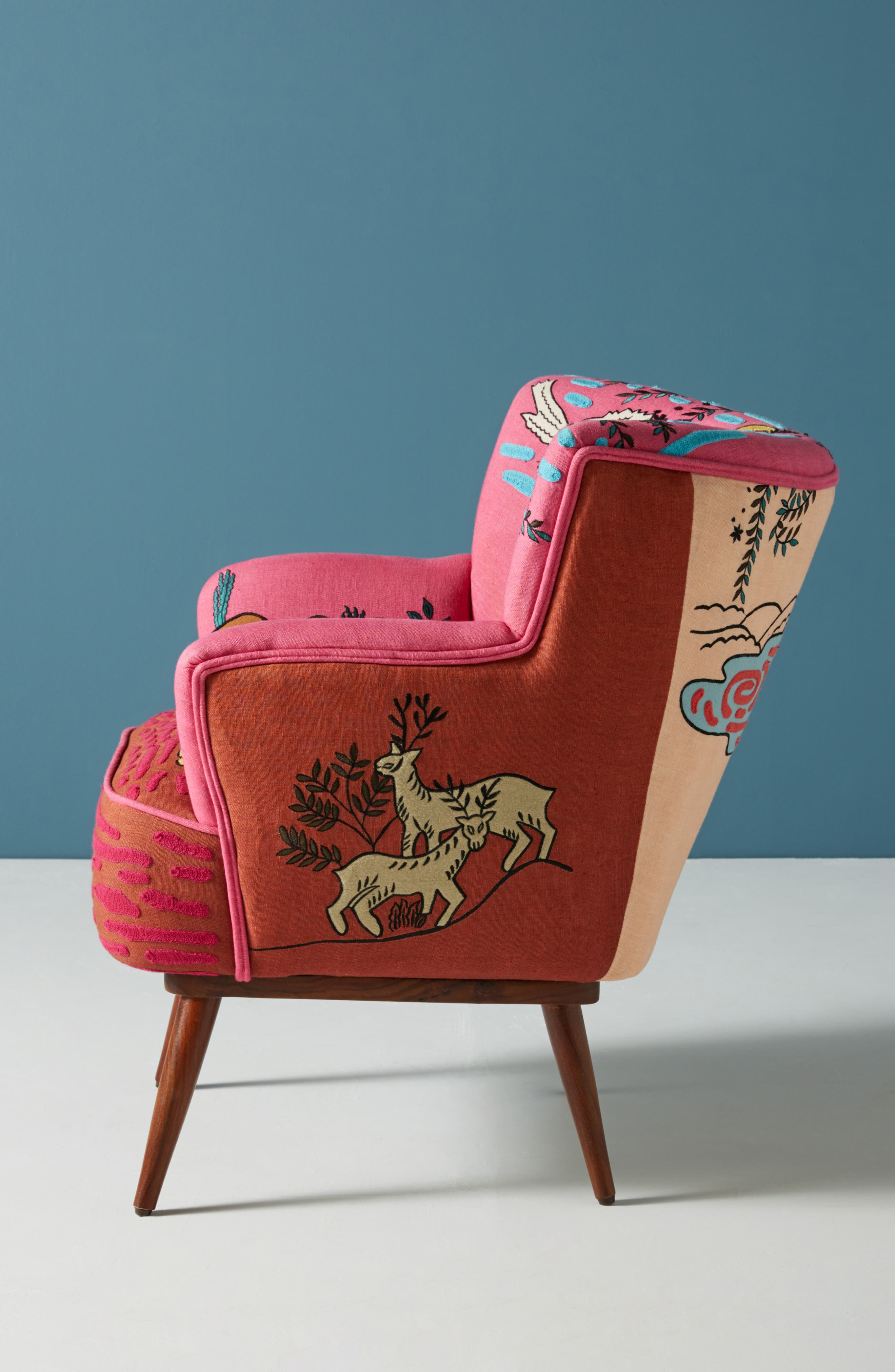 Wayne Occasional Chair,                             Alternate thumbnail 2, color,                             PINK