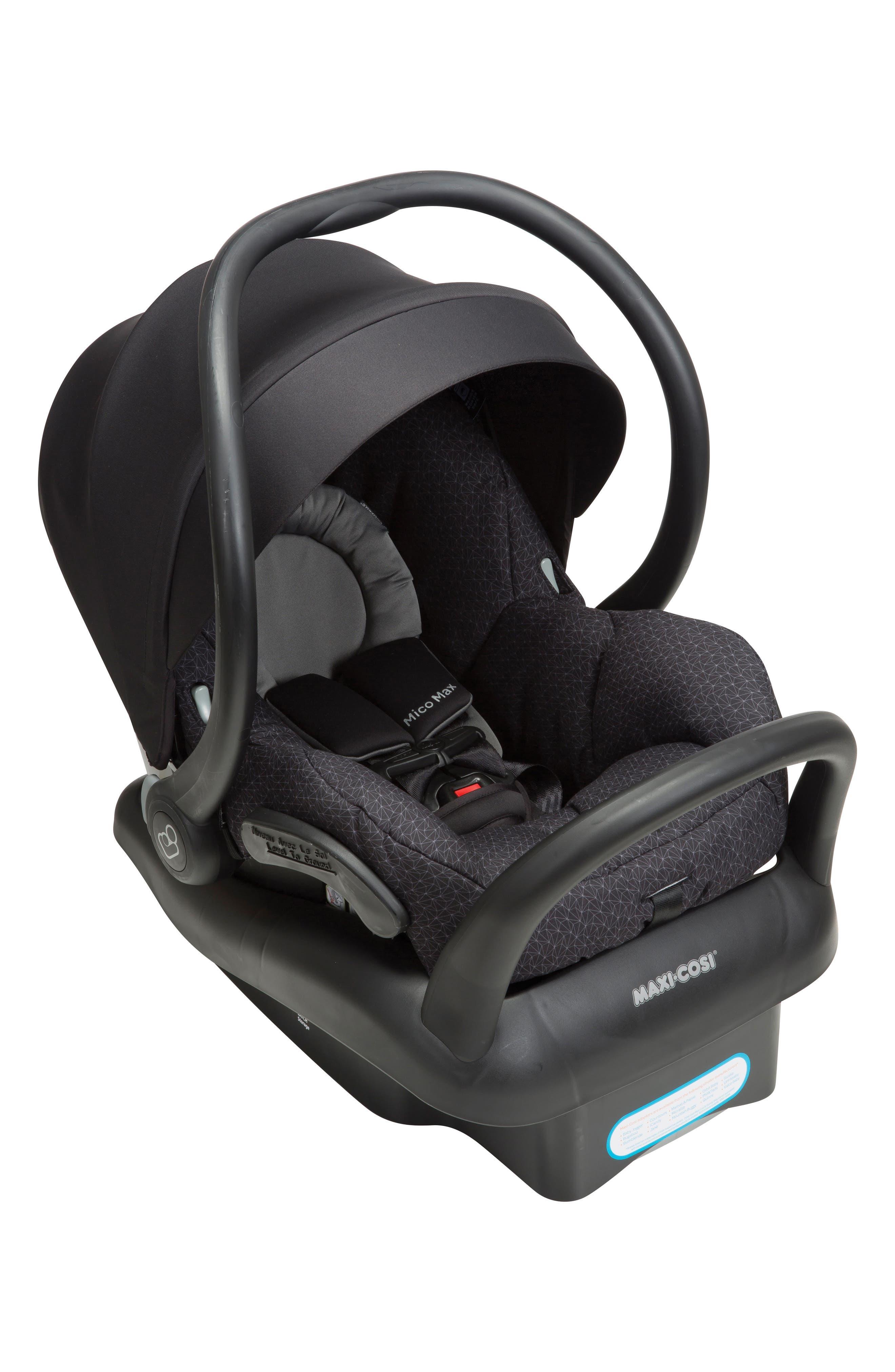 Mico Max 30 Infant Car Seat,                             Main thumbnail 1, color,                             BLACK CRYSTAL