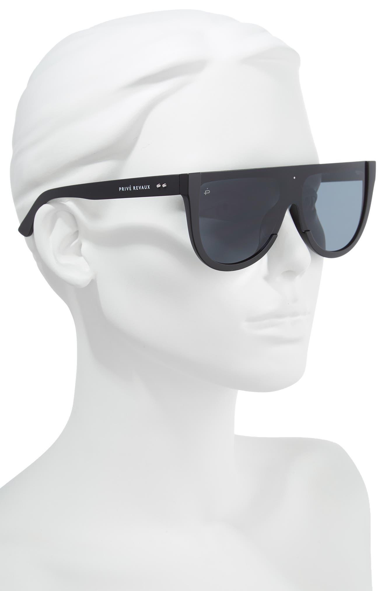 Privé Revaux The Coco 60mm Shield Sunglasses,                             Alternate thumbnail 2, color,                             001