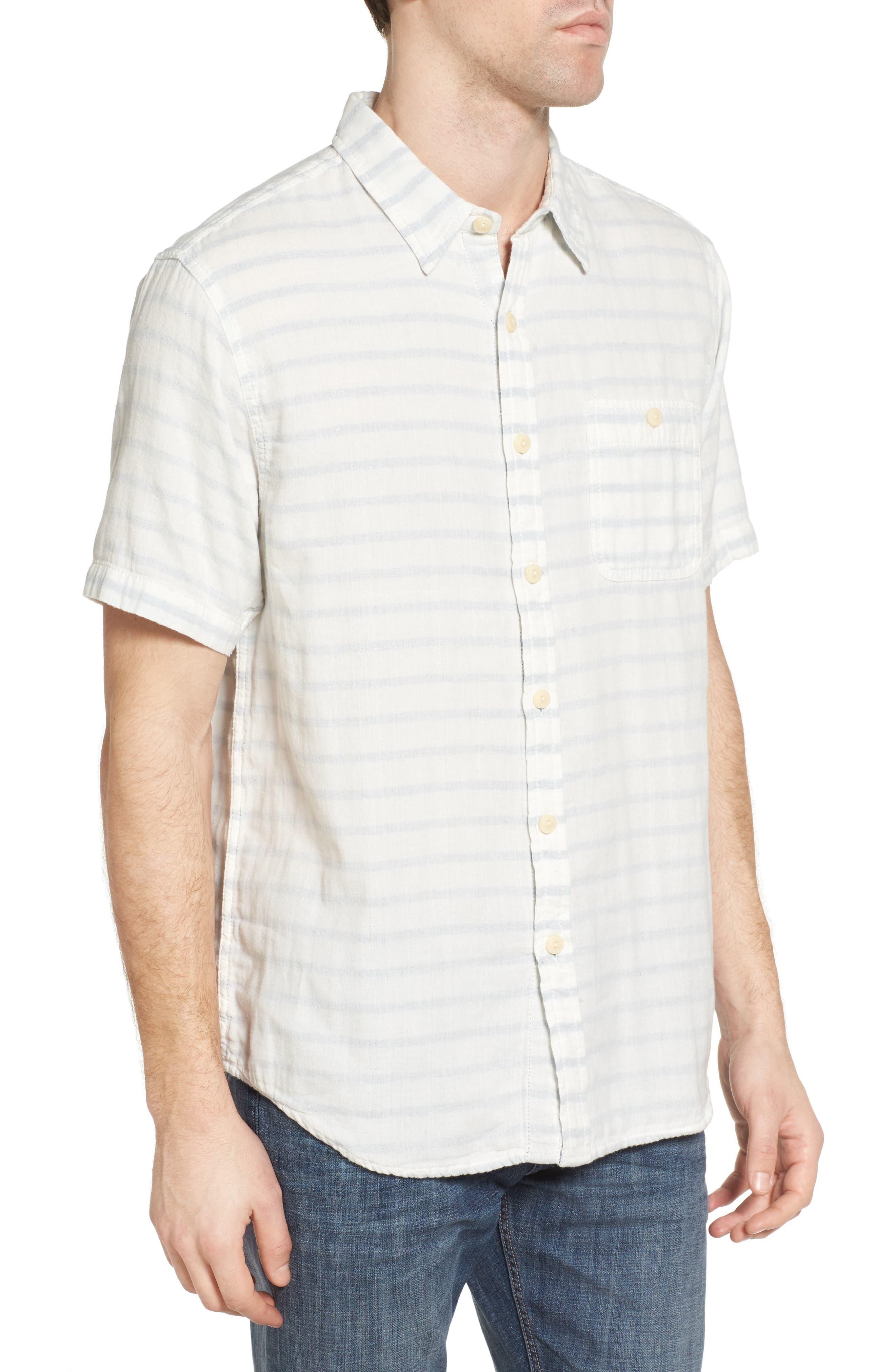 Newport Stripe Sport Shirt,                             Alternate thumbnail 3, color,                             100